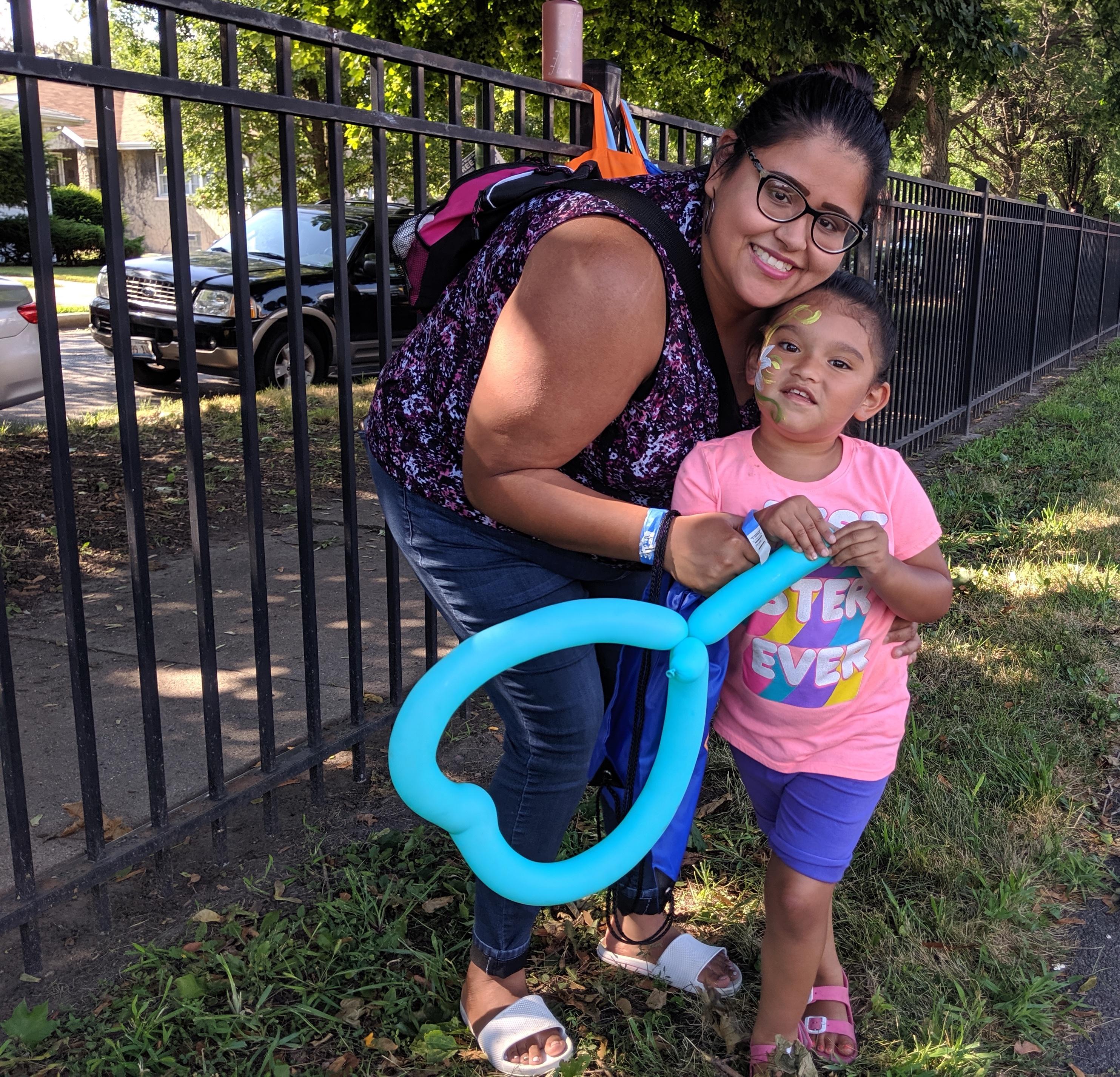 Bianca Freyre and her preschooler, Maura