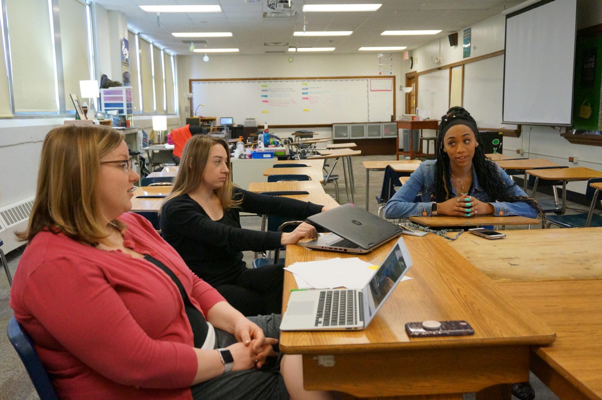 Teachers at Crispus Attucks High School
