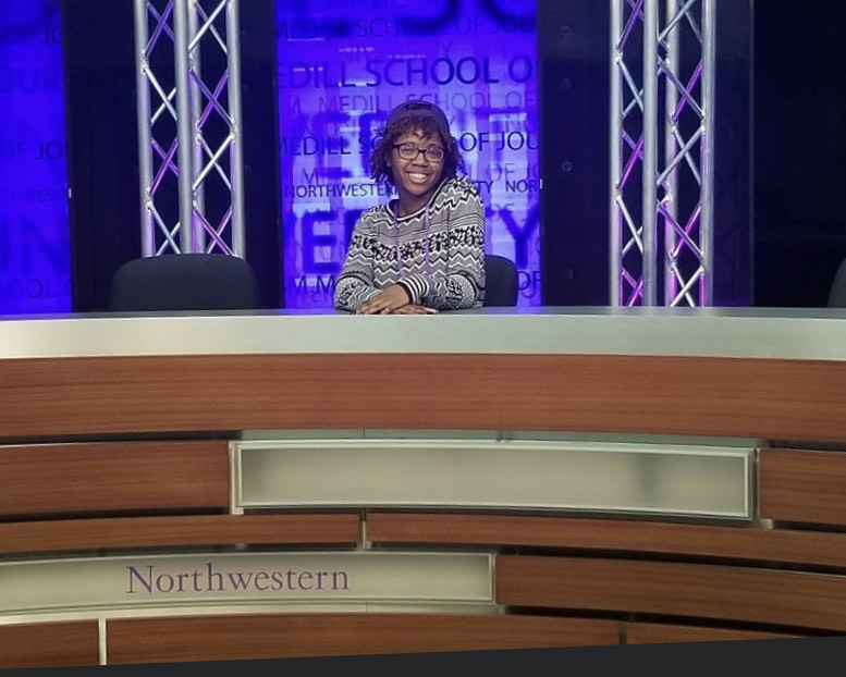 Imani Harris, pictured here during her senior year visit to Northwestern University, said her transition from a Detroit high school to college was challenging.