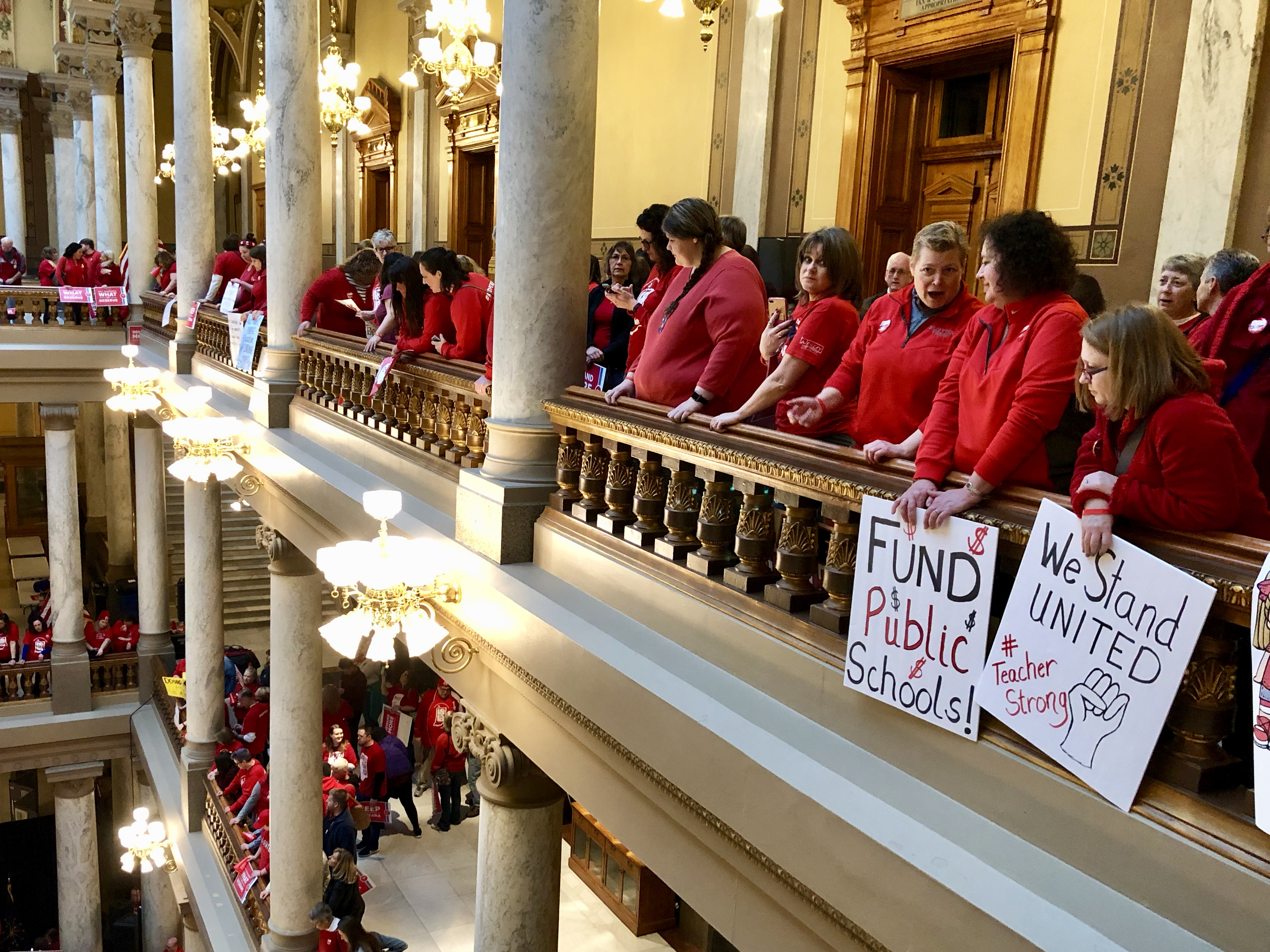 More than 1,000 teachers and their supporters from across Indiana gathered at the state Capitol on March 9, 2019 at a rally hosted by the Indiana State Teachers Association.