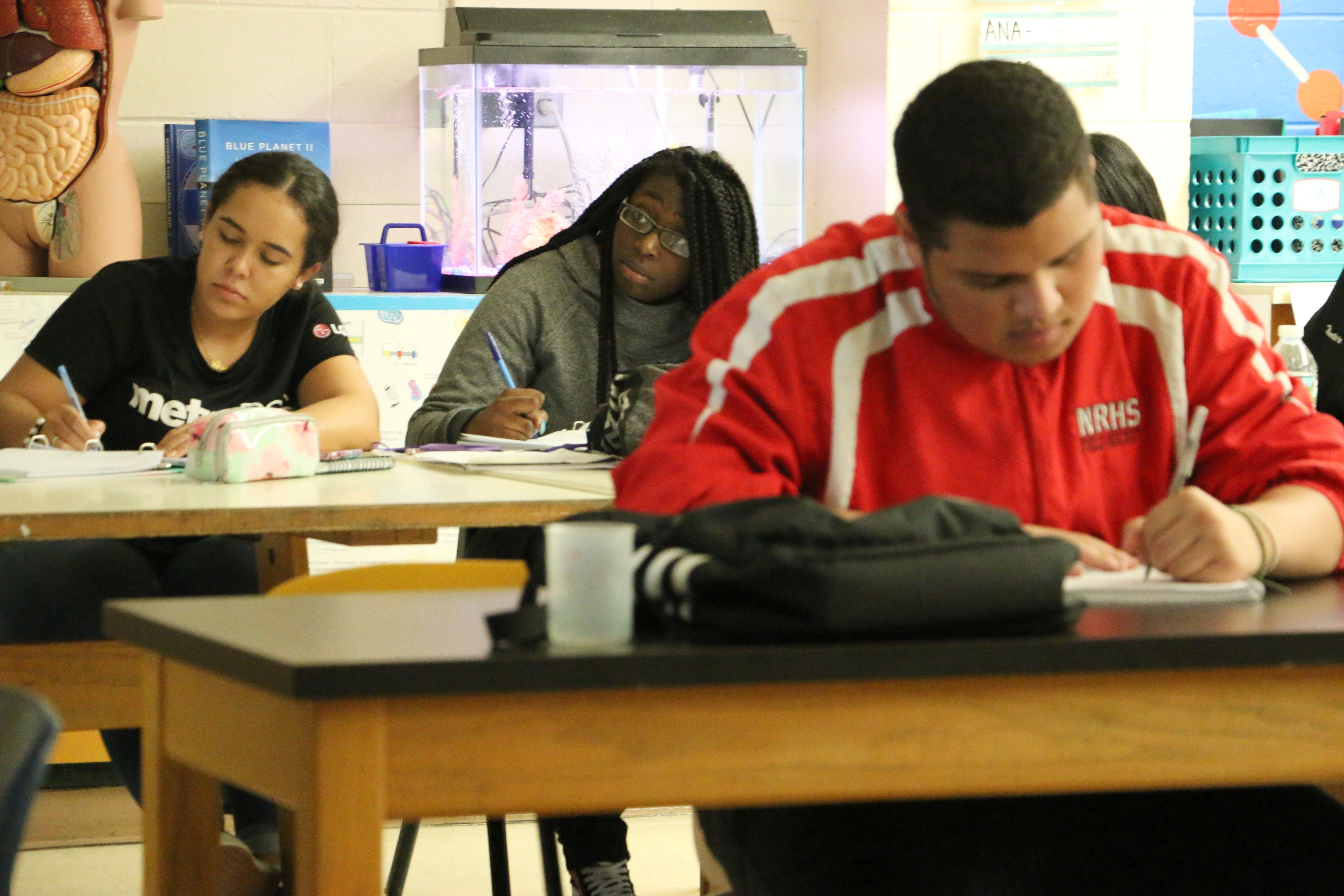 In September 2020, the district plans to open a new high school, the Newark School of Global Studies, along with the Sir Isaac Newton Elementary School. (Pictured are students at East Side High School.)
