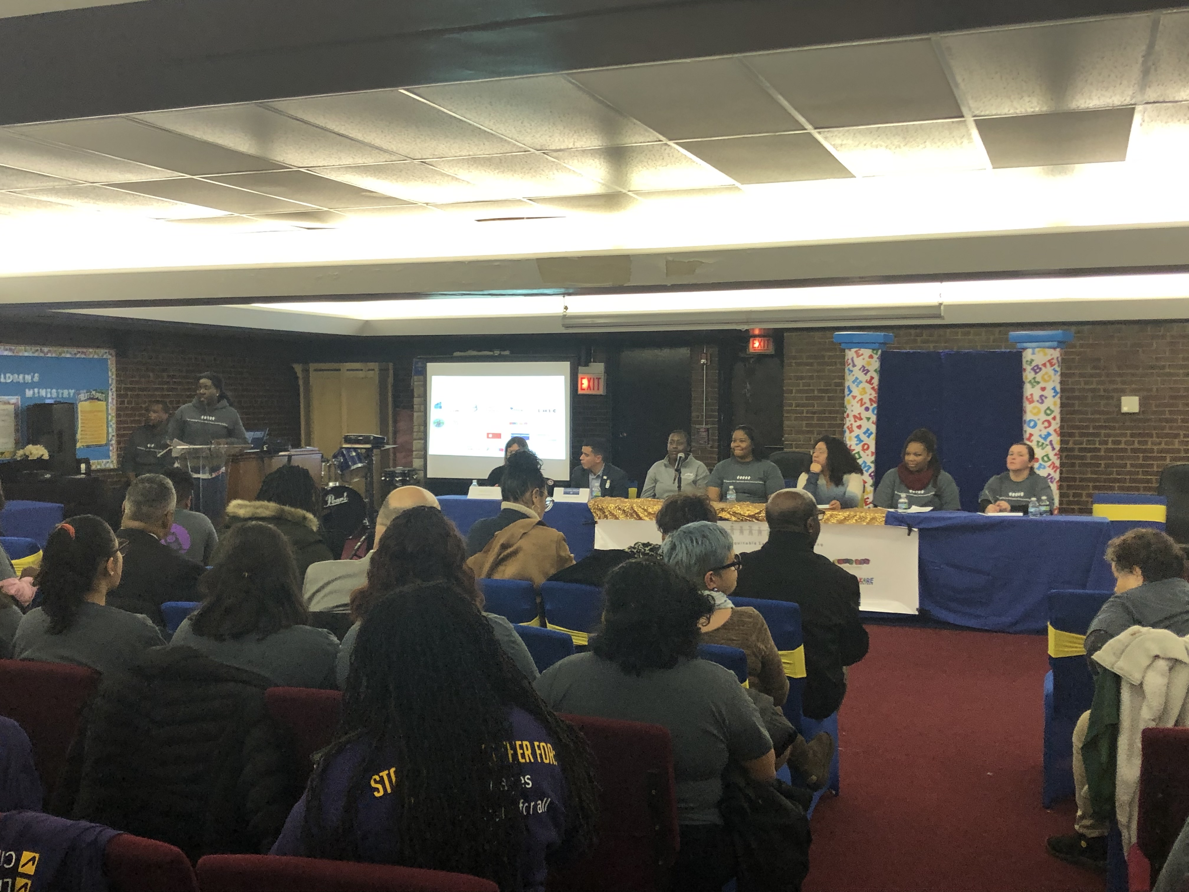 Parents anxious about upheaval in the day care and preschool systems in Chicago sought answers at a meeting Nov. 19, 2019, at Antioch Baptist Church in Englewood.