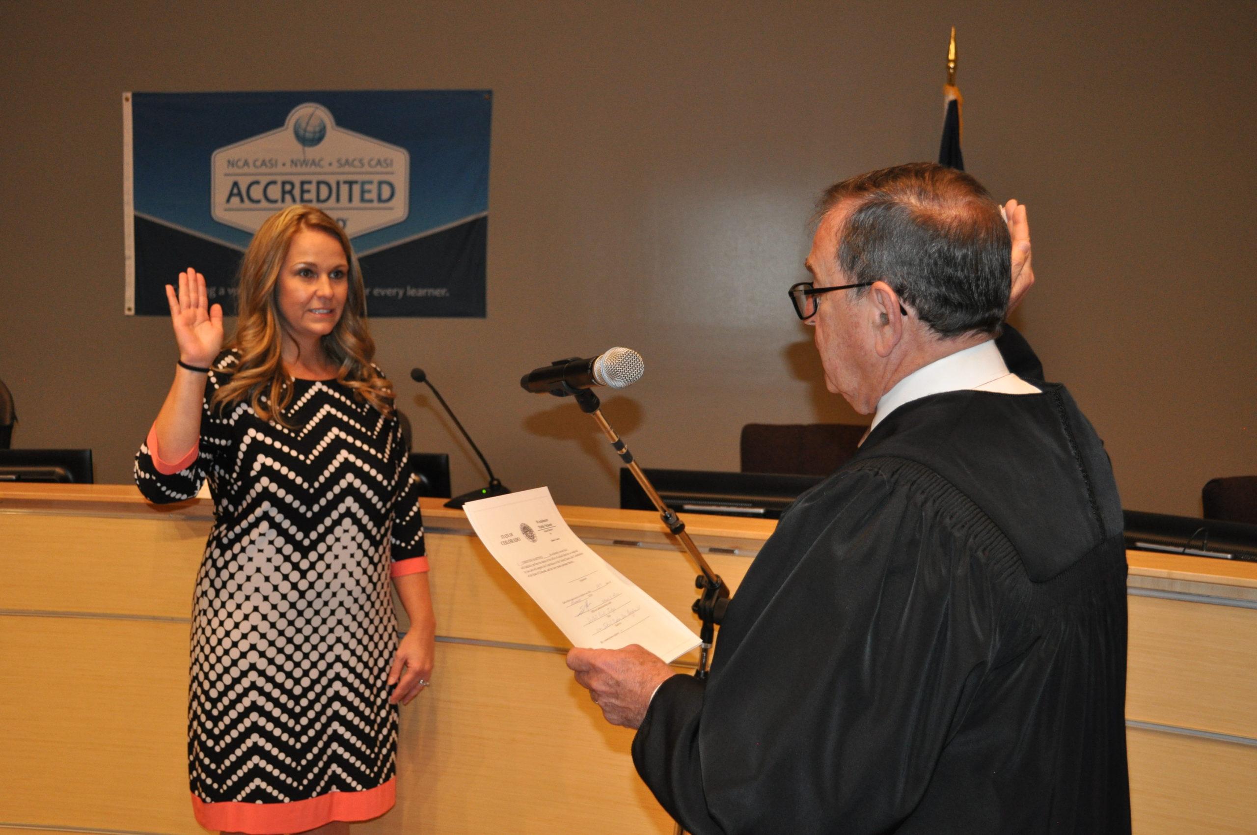 Christine Martinez was sworn in Nov. 19, 2019.