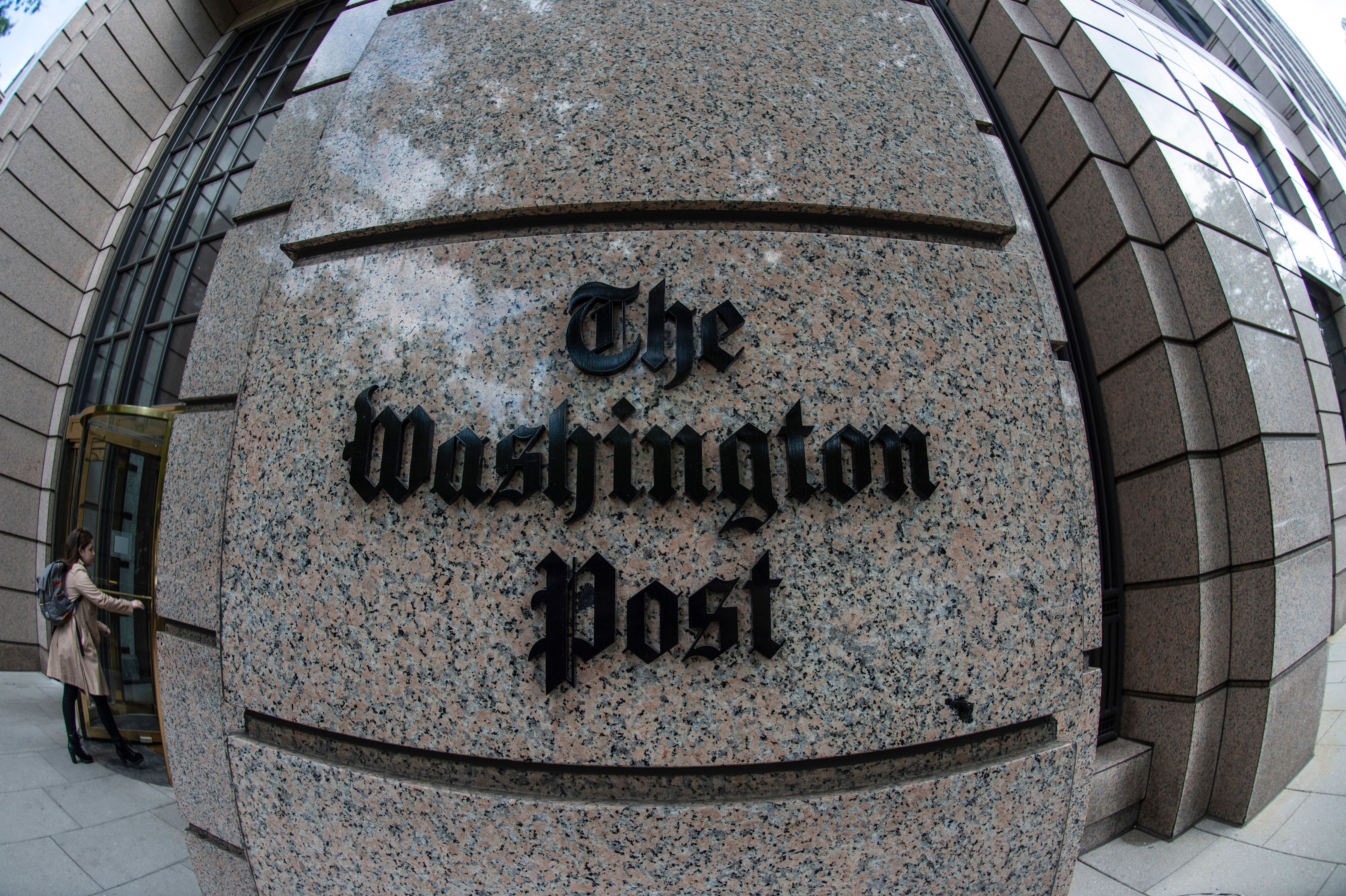 The Washington Post building.