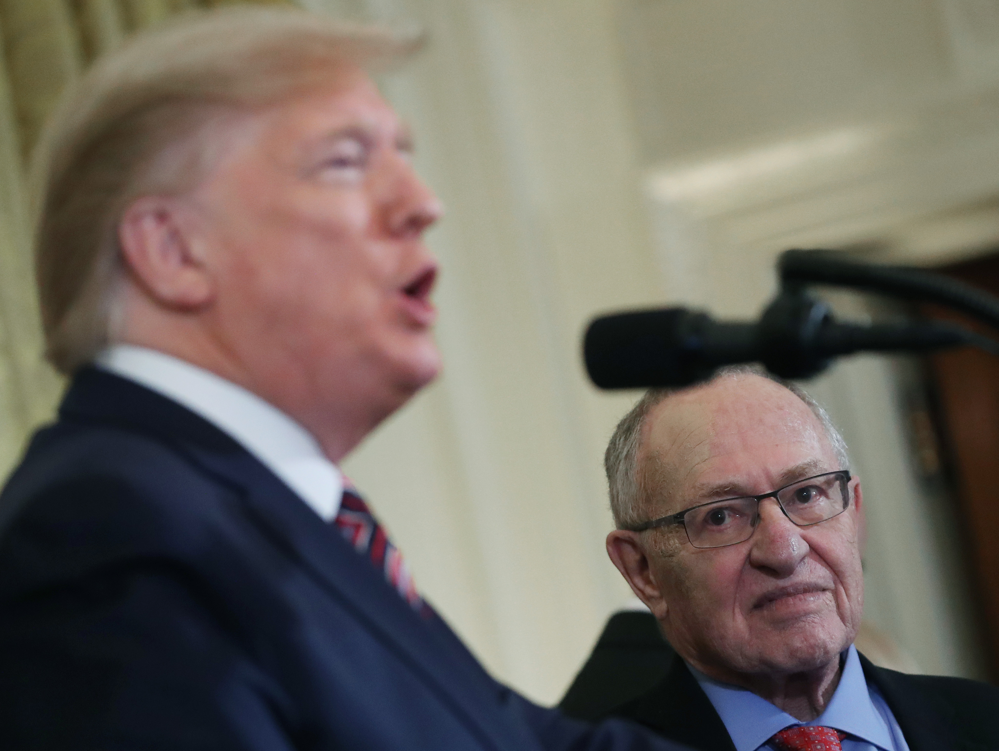 Trump and Dershowitz at the White House.