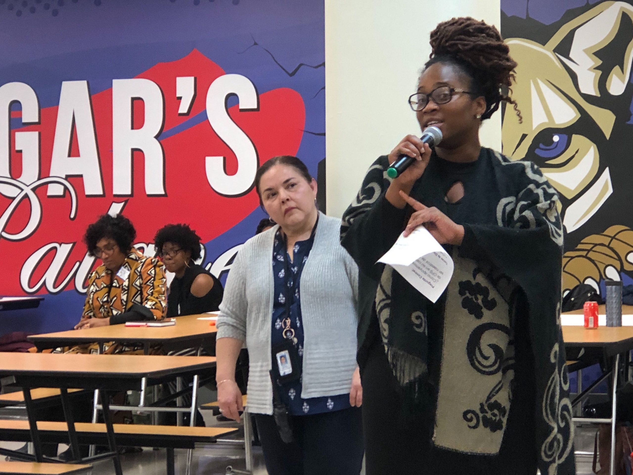 Chikamso Odume explains why she left teaching after moving to Chicago for a Teach for America placement. She spoke at a meeting of the Chicago Board of Education's new workforce equity committee Monday.