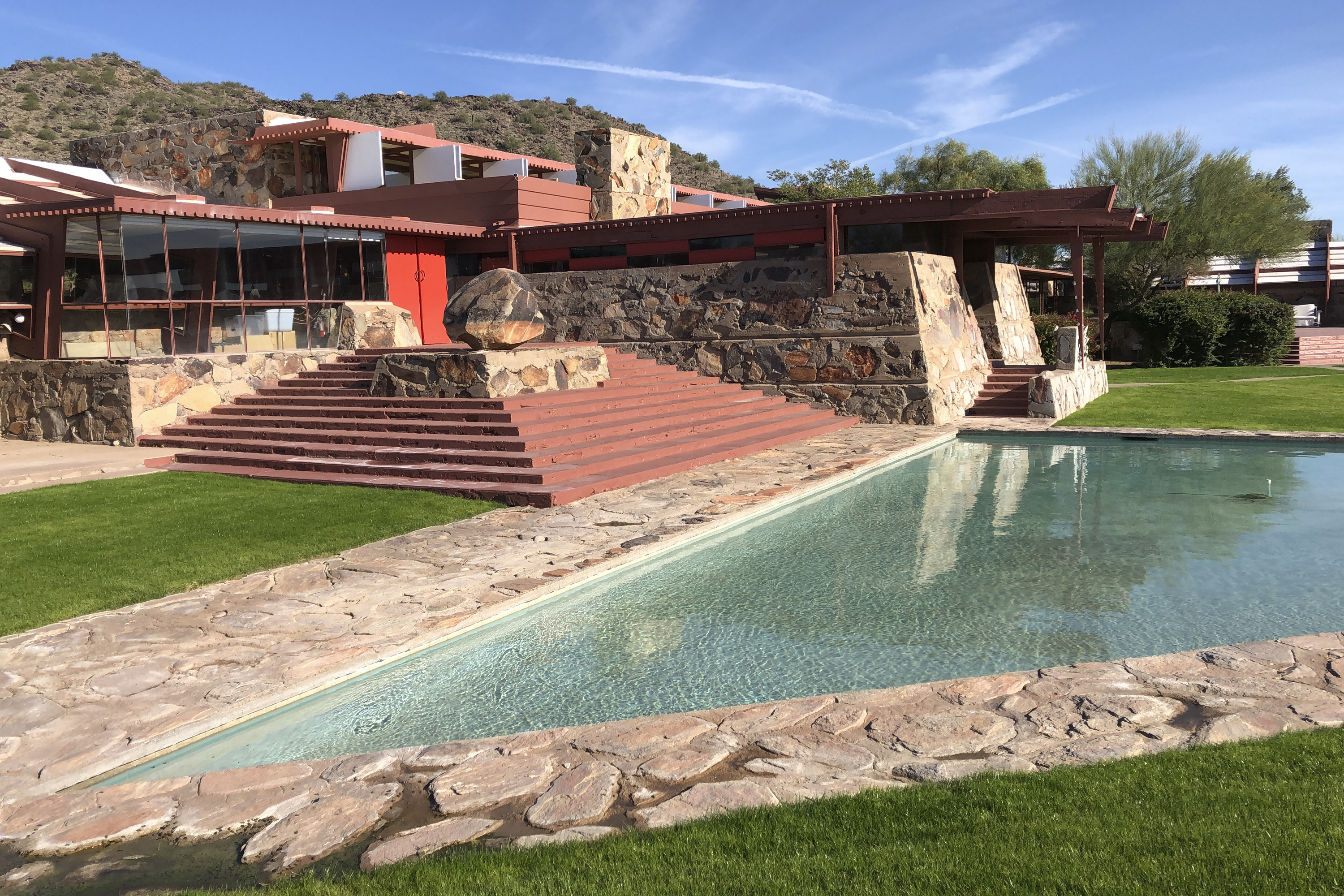 Frank Lloyd Wright's Taliesin West in Scottsdale, Arizona, is photographed in 2018.