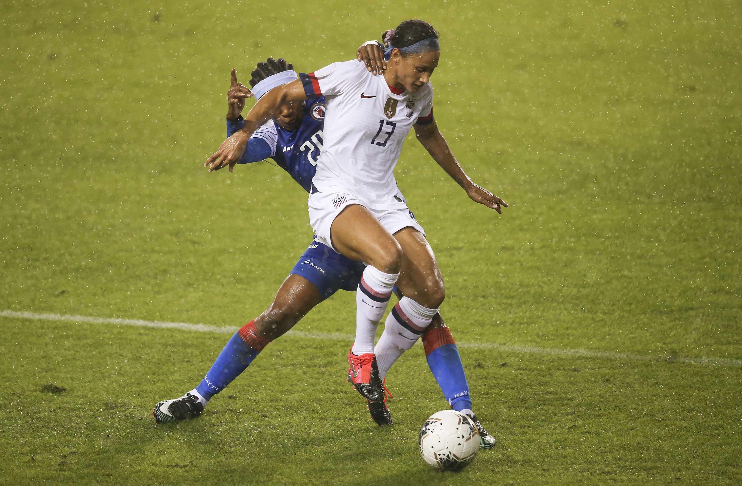 Soccer: CONCACAF Women's Olympic Qualifying-Haiti at USA
