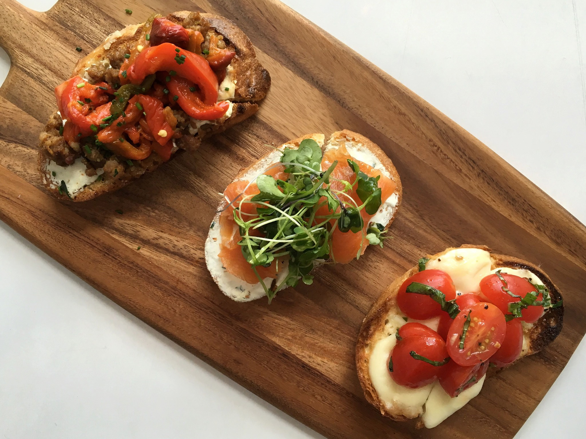 Toasts from Grove Wine Bar
