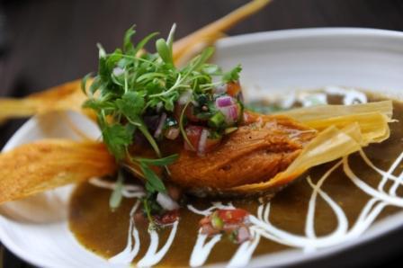 pork tamales at Alma Cocina