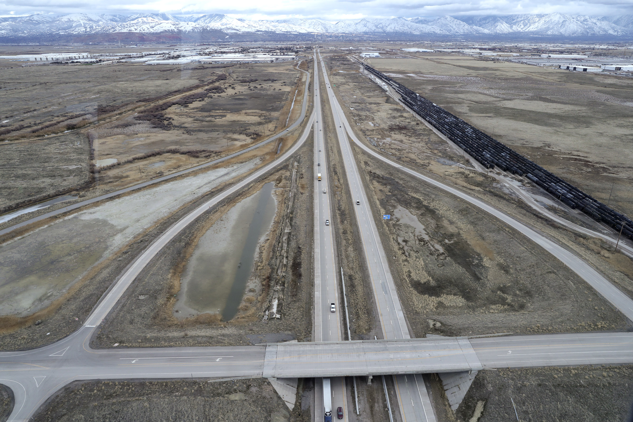 Area at I-80 near 7200 South where the Utah Inland Port is planned to be built in Salt Lake City on Monday, Jan. 27, 2020.