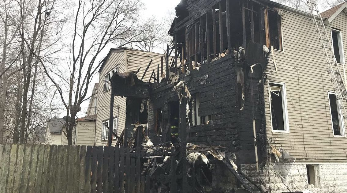 A home in Burnside caught fire April 17, 2019, after burning debris went flying from a nearby steel plant.
