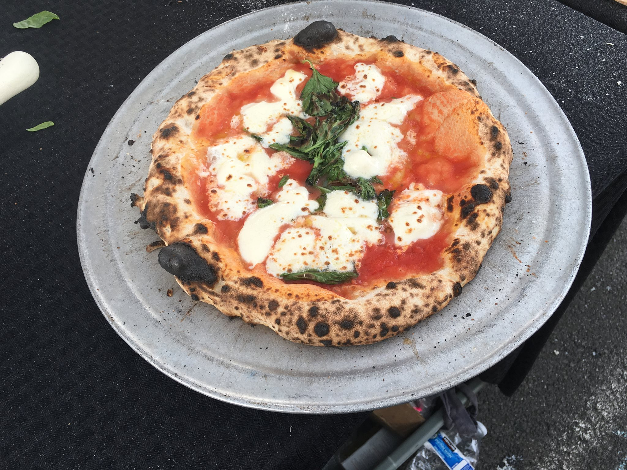 A pie from Fire Dance Pizza