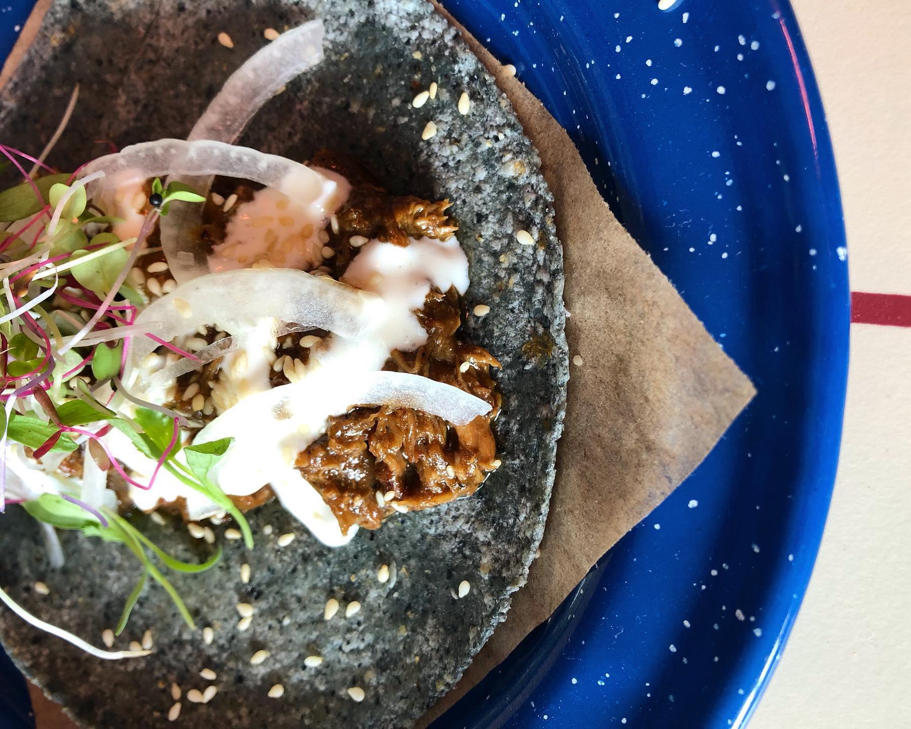 The duck confit taco from Nixta Taqueria
