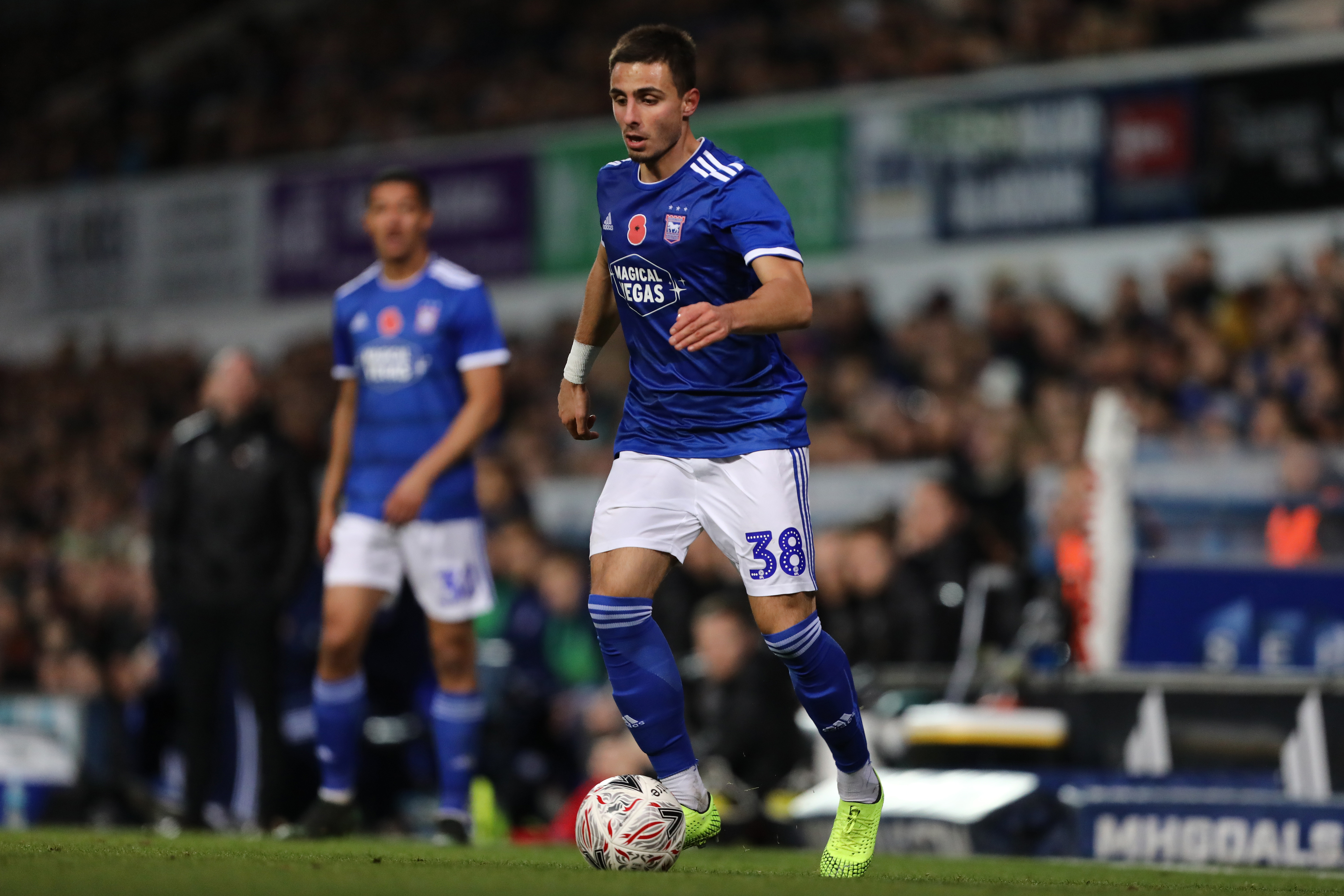 Anthony Georgiou of Ipswich Town in action during the FA Cup...