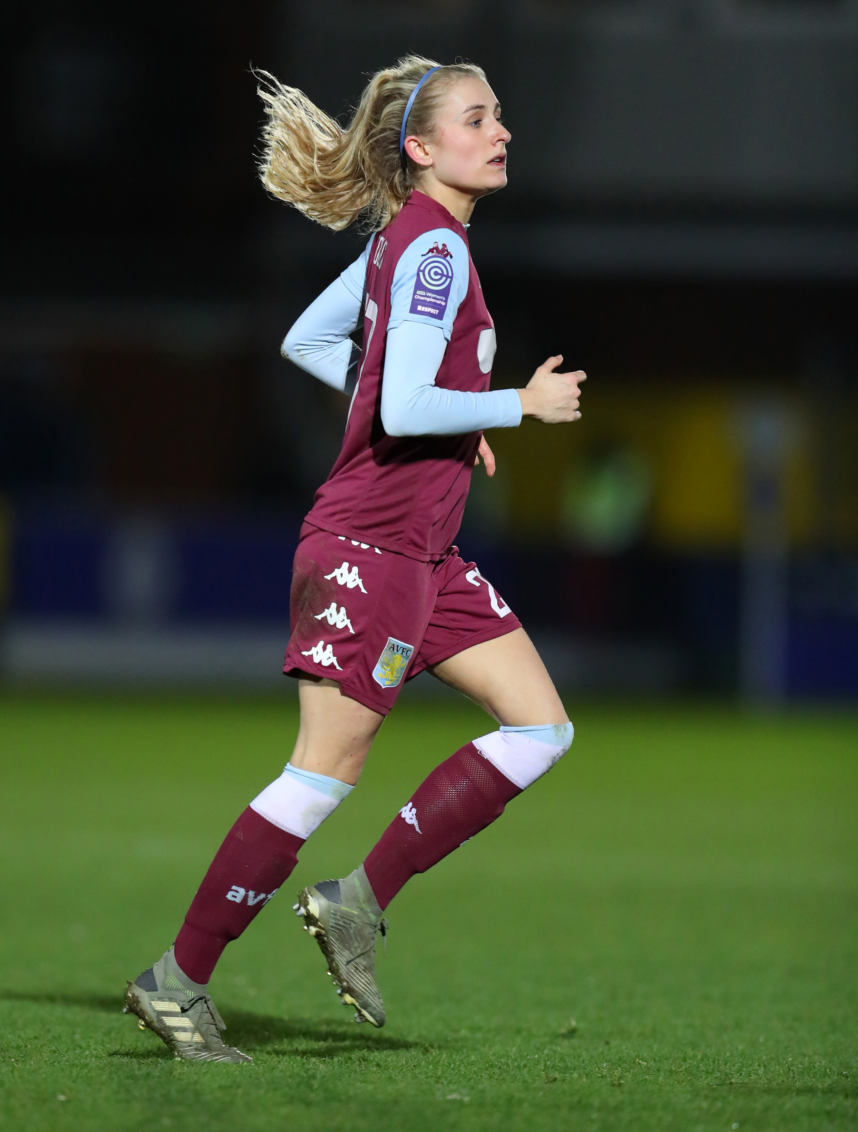 Emma Follis of Aston Villascored a late goal to help secure a 3-0 victory over Charlton.