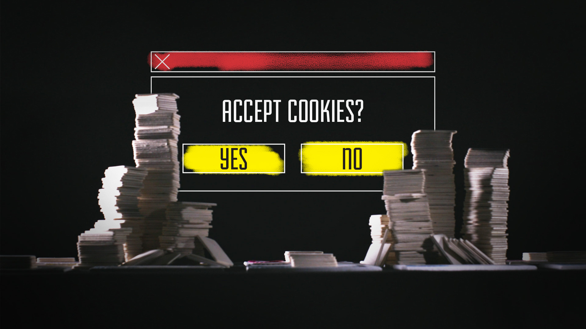 Accept cookies? Yes/no.
