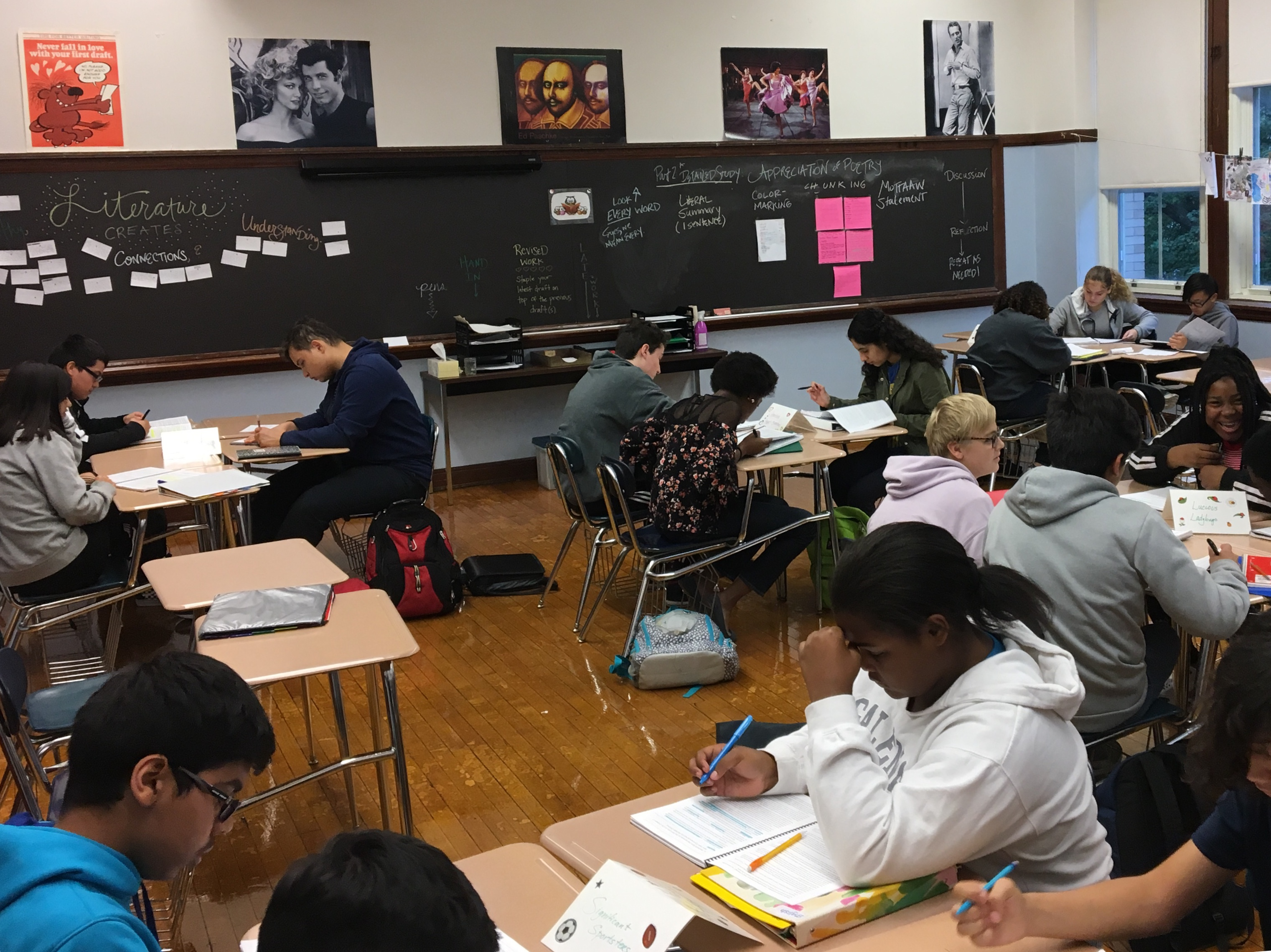 An International Baccalaureate class at Senn High School in Edgewater on the North Side of Chicago.