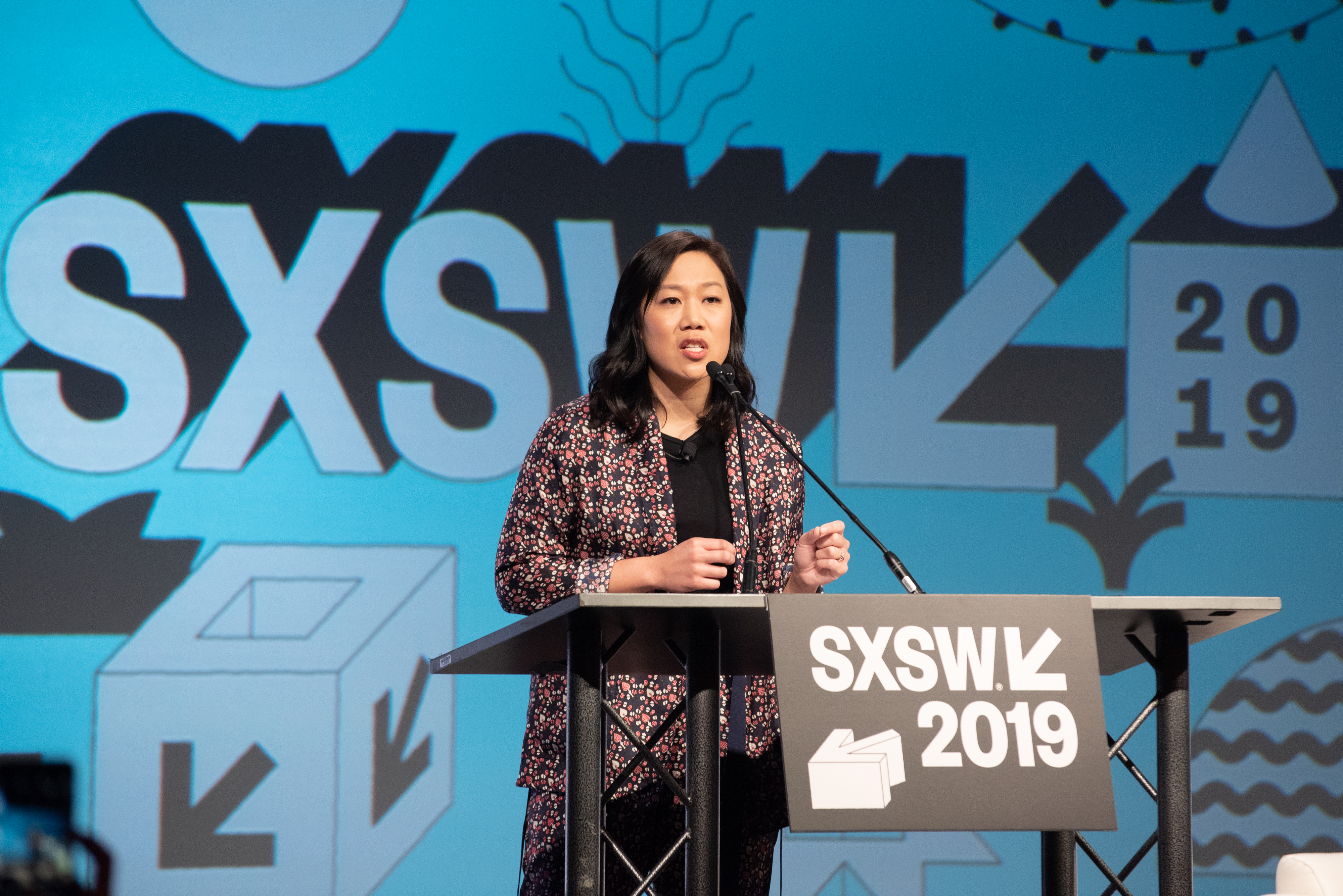 AUSTIN, TEXAS - MARCH 08: Priscilla Chan of the Chan Zuckerberg Initiative speaks at the Hilton during SXSW on March 08, 2019 in Austin, Texas. (Photo by Jim Bennett/WireImage)