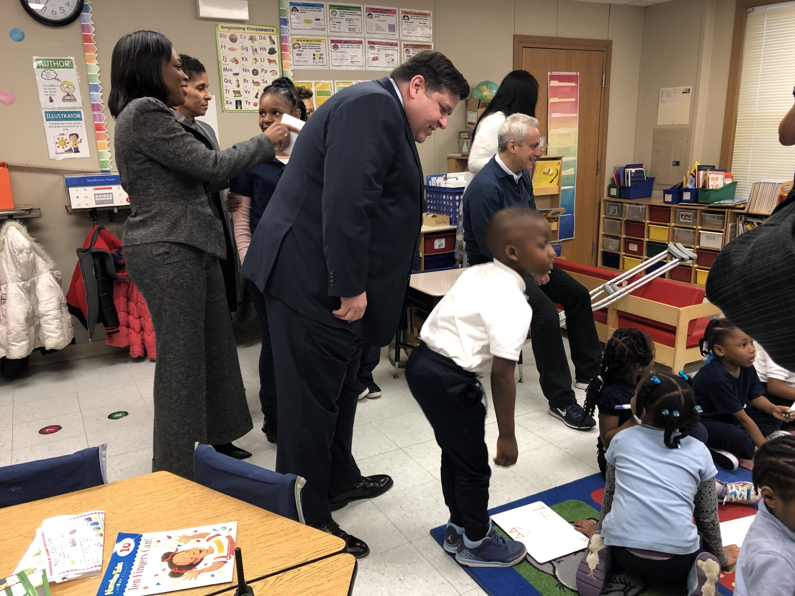 Illinois Gov. J.B. Pritzker visited a Chicago school last spring to tout additional investments in early education.