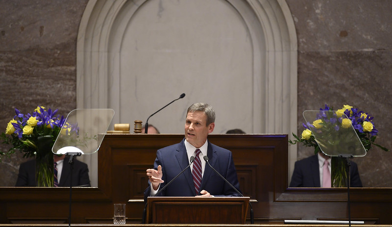 Gov. Bill Lee delivers his second State of the State Address to the Tennessee General Assembly in Nashville.