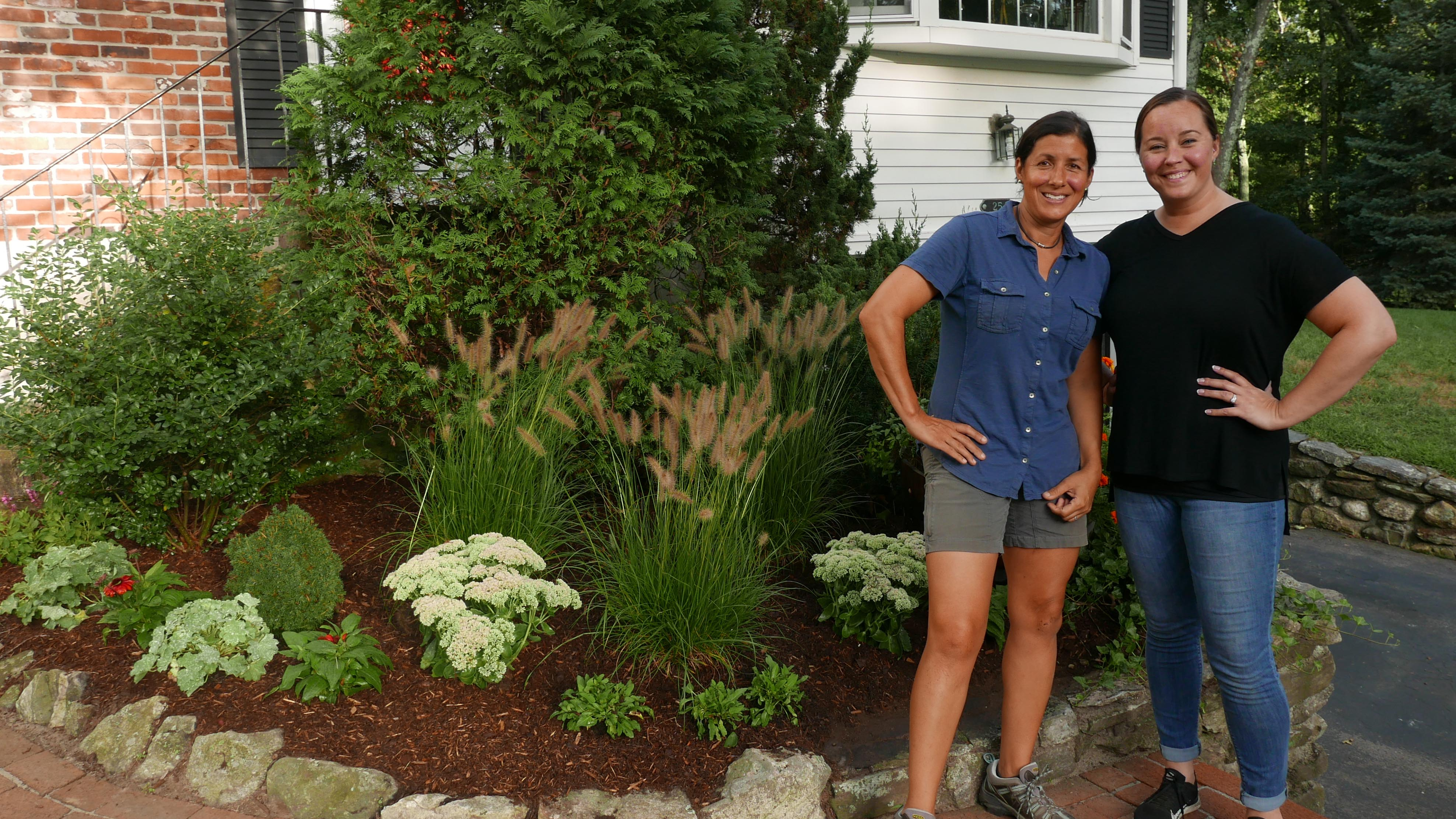 Jenn Nawada helps to replace and improve foundation plantings