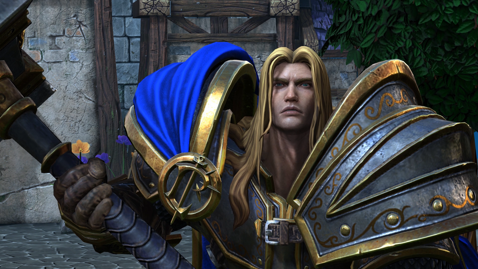 Warcraft 3: Reforged - Prince Arthas, the main character of the game.