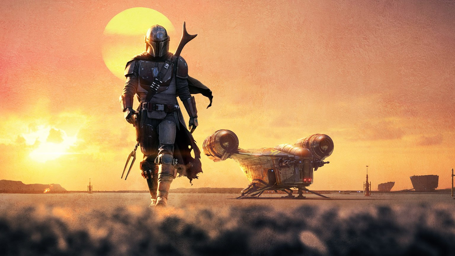 A poster of The Mandalorian.