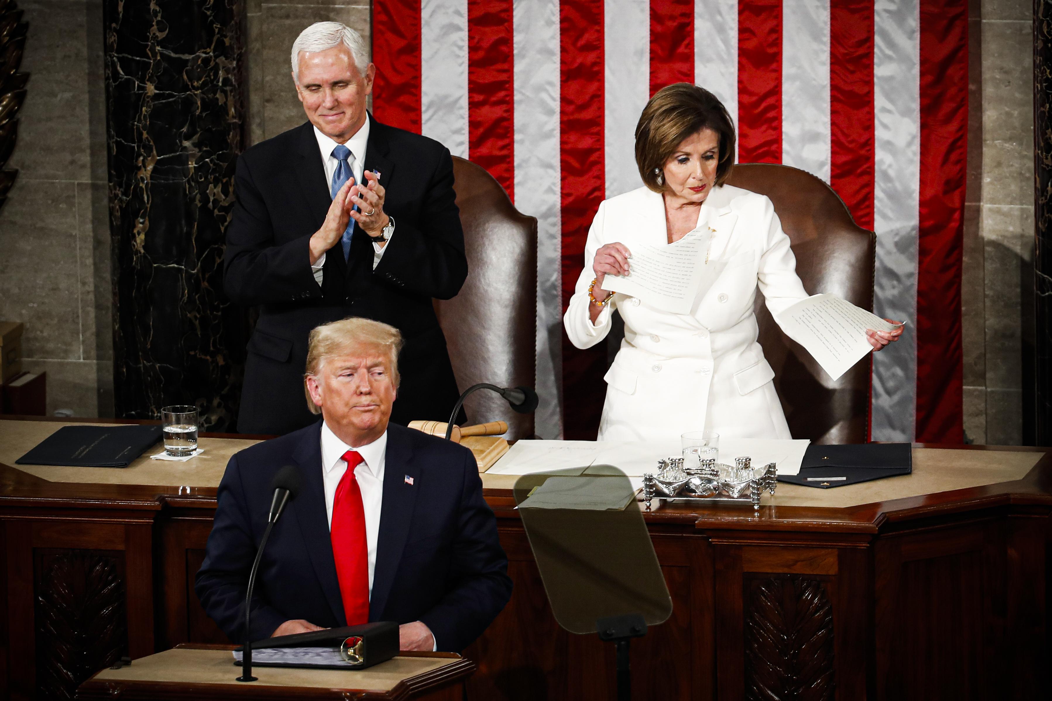 Pelosi's State of the Union response: Rip up Trump's speech