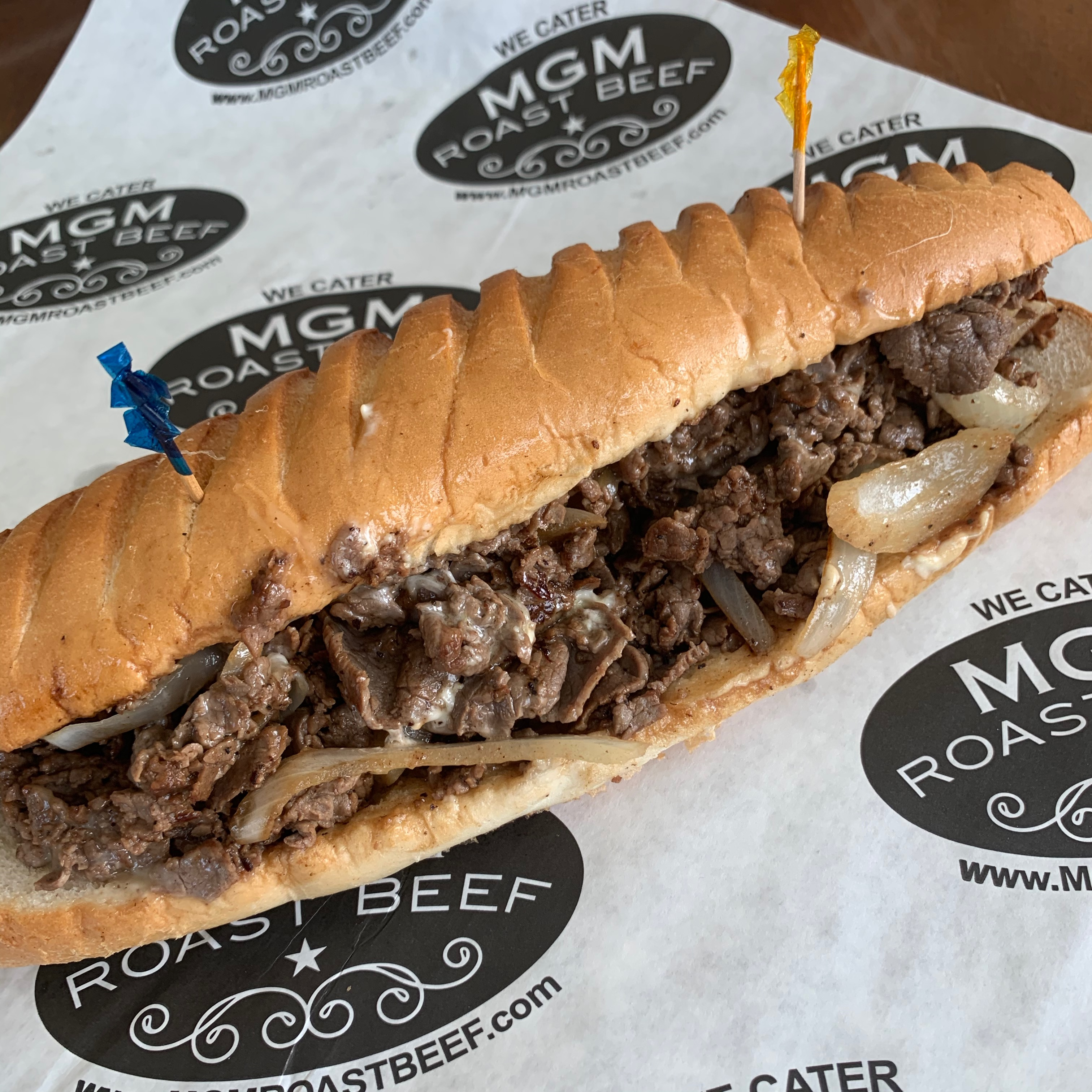 A new steak and cheese sandwich from MGM Roast Beef