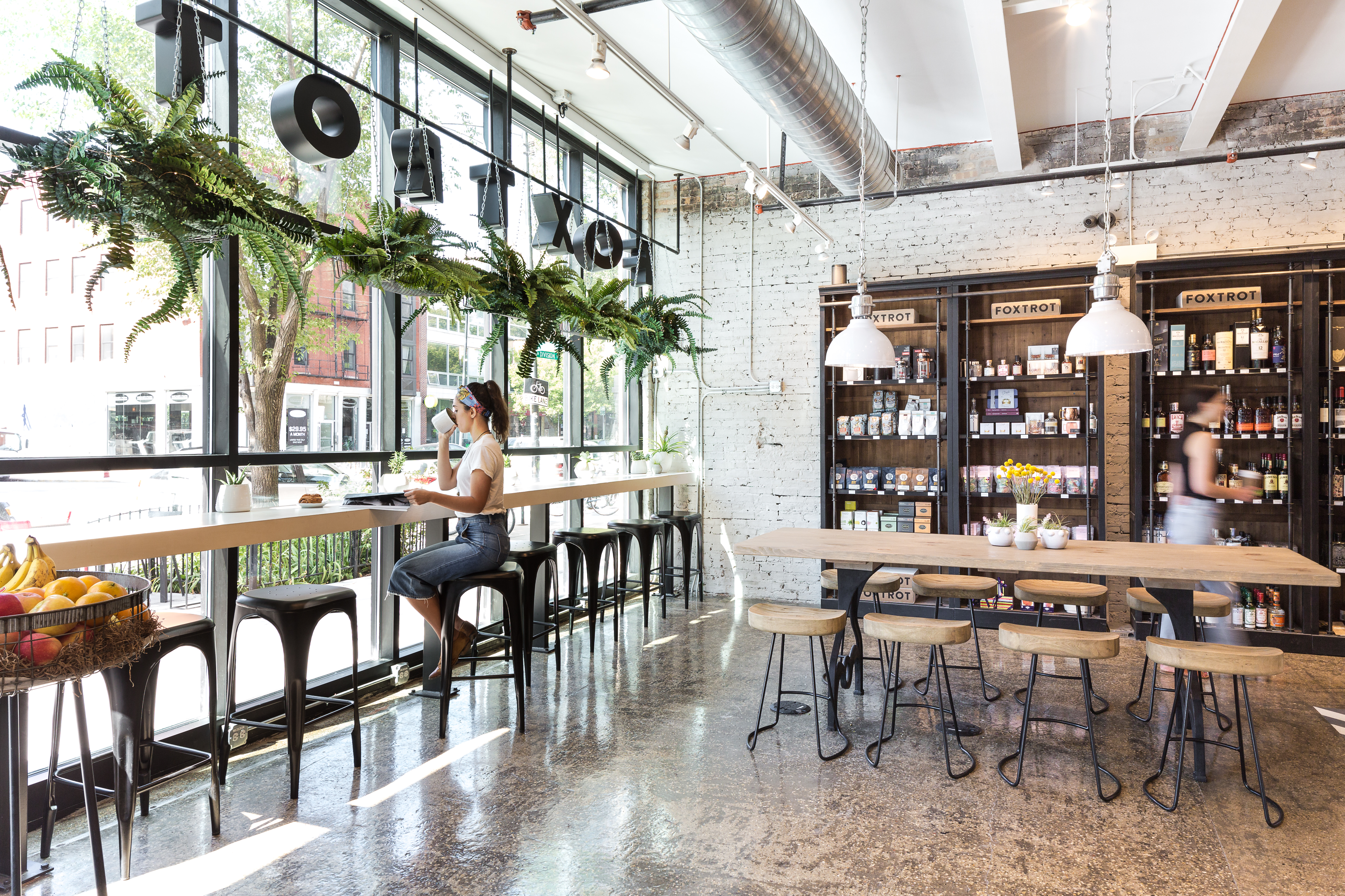 Inside one of Foxtrot's convenience store cafes