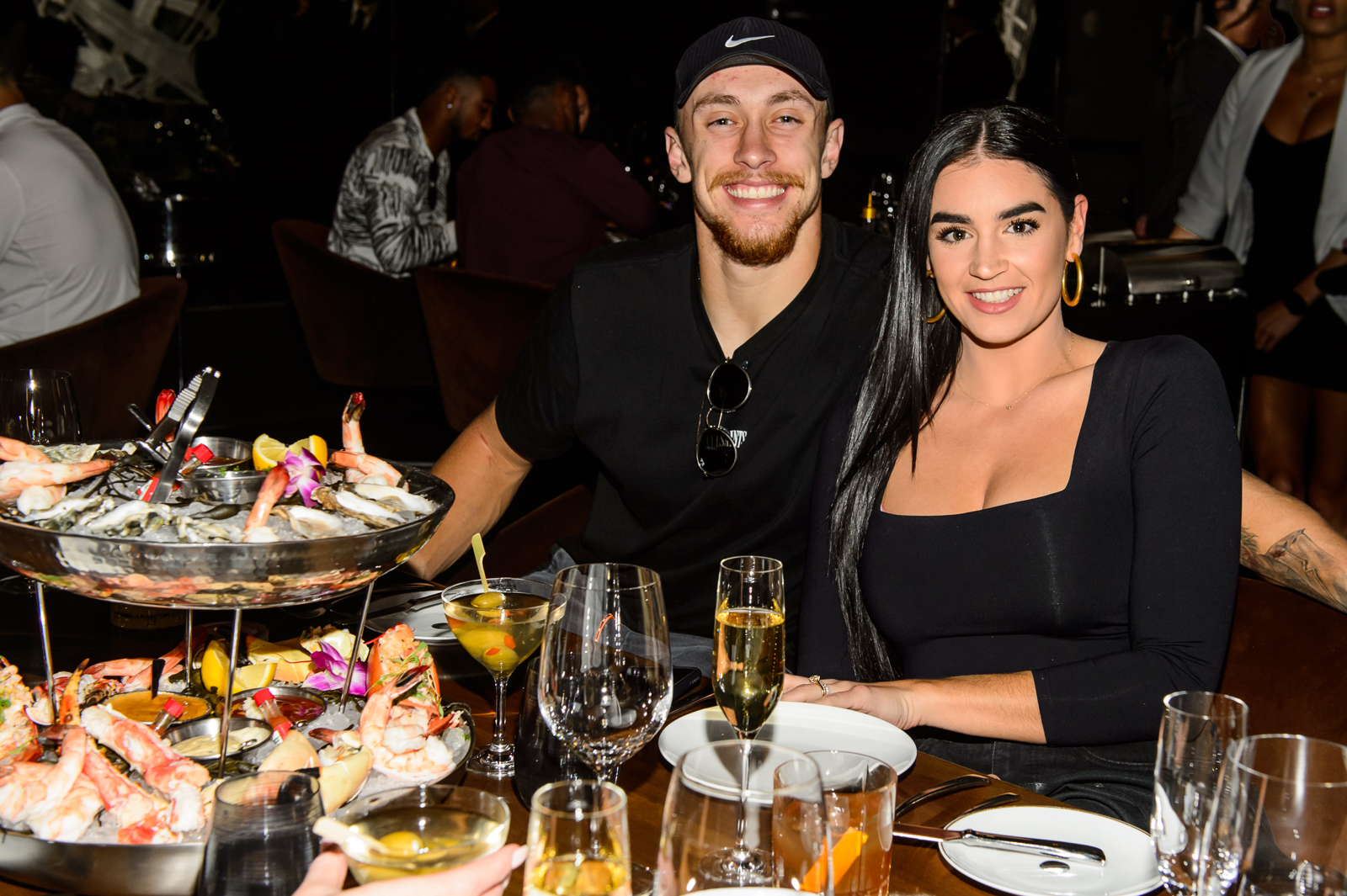 George and Claire Kittle dine at Cut.