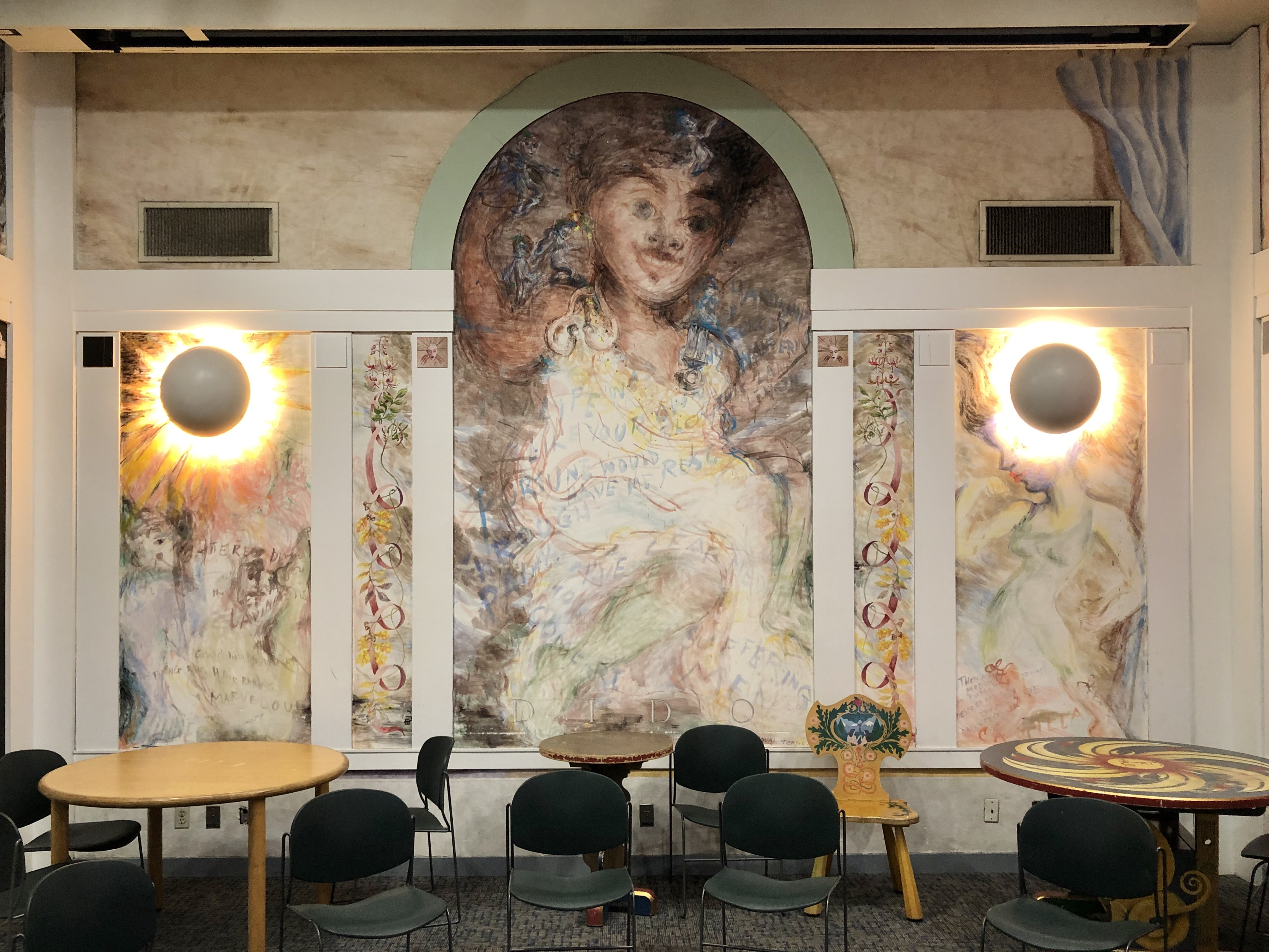 """Irene Siegel's fresco-style mural """"The Aeneid"""" was completed at the Sulzer Regional Library in 1985 — after considerable controversy."""