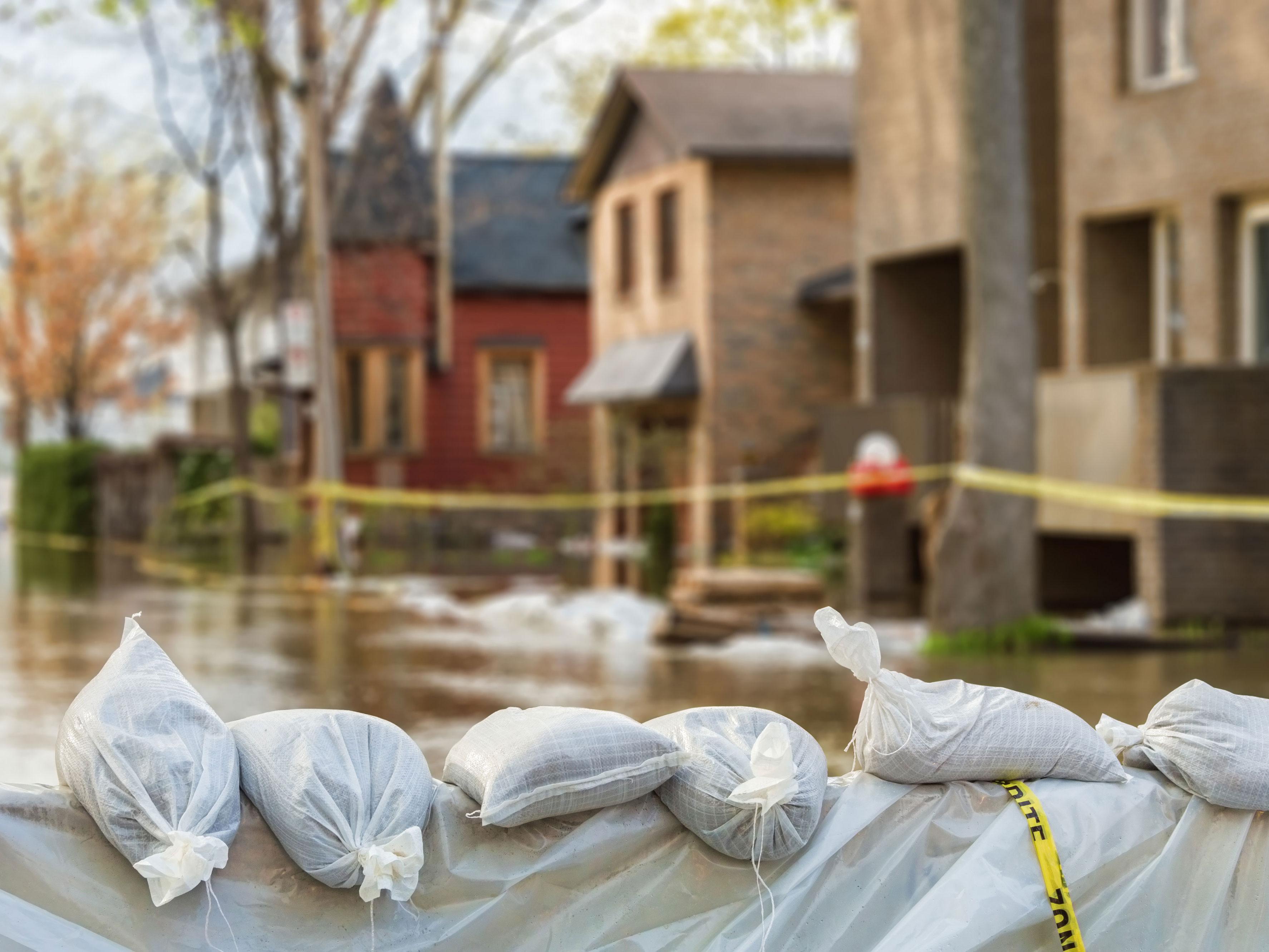 Sandbags To Prevent Flooding