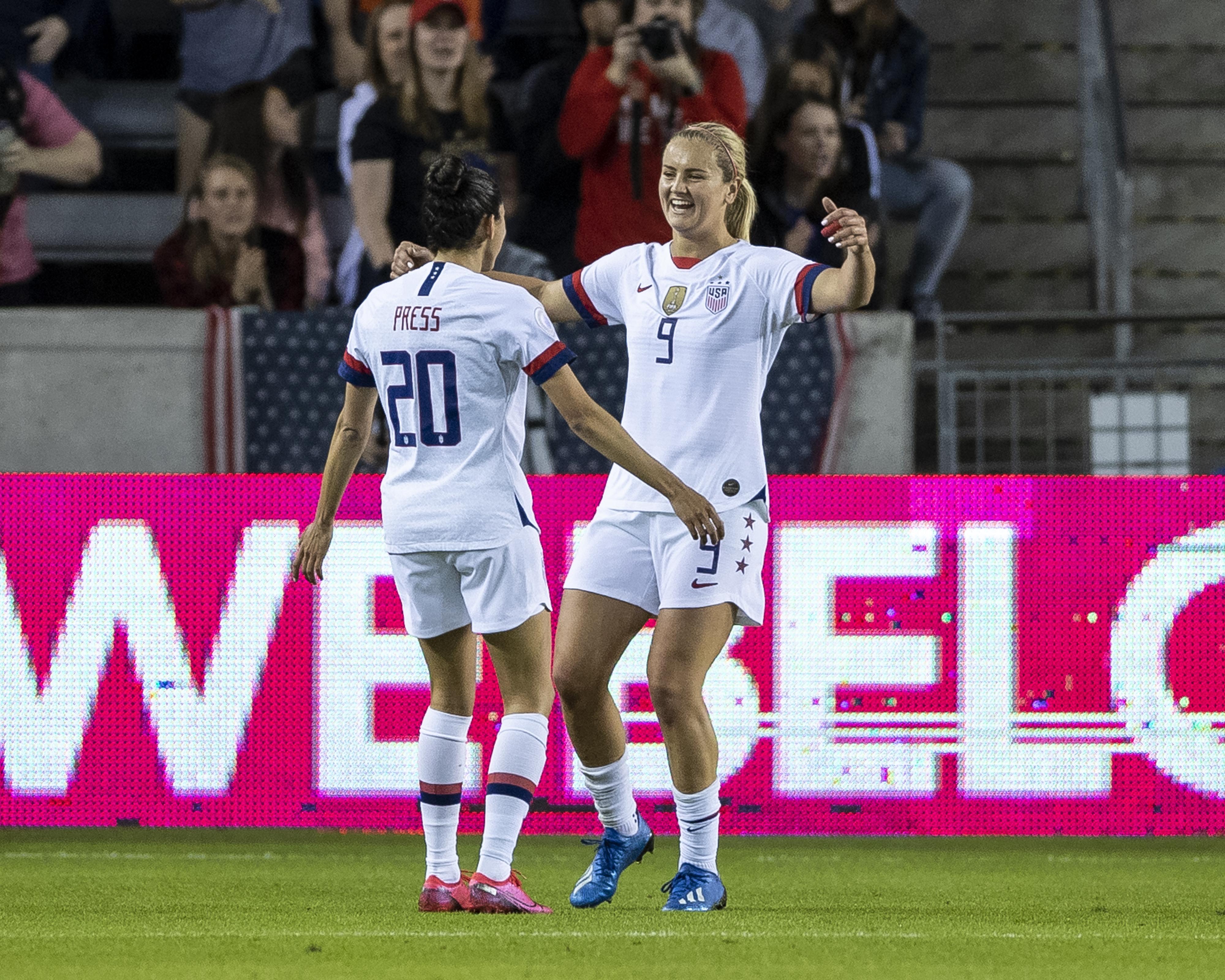美国vs哥斯达黎加:A组- 2020 CONCACAF女子奥运预选赛