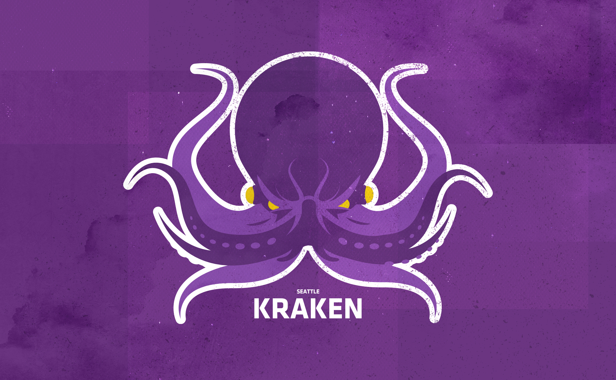 logo of a large purple octopus like sea monster