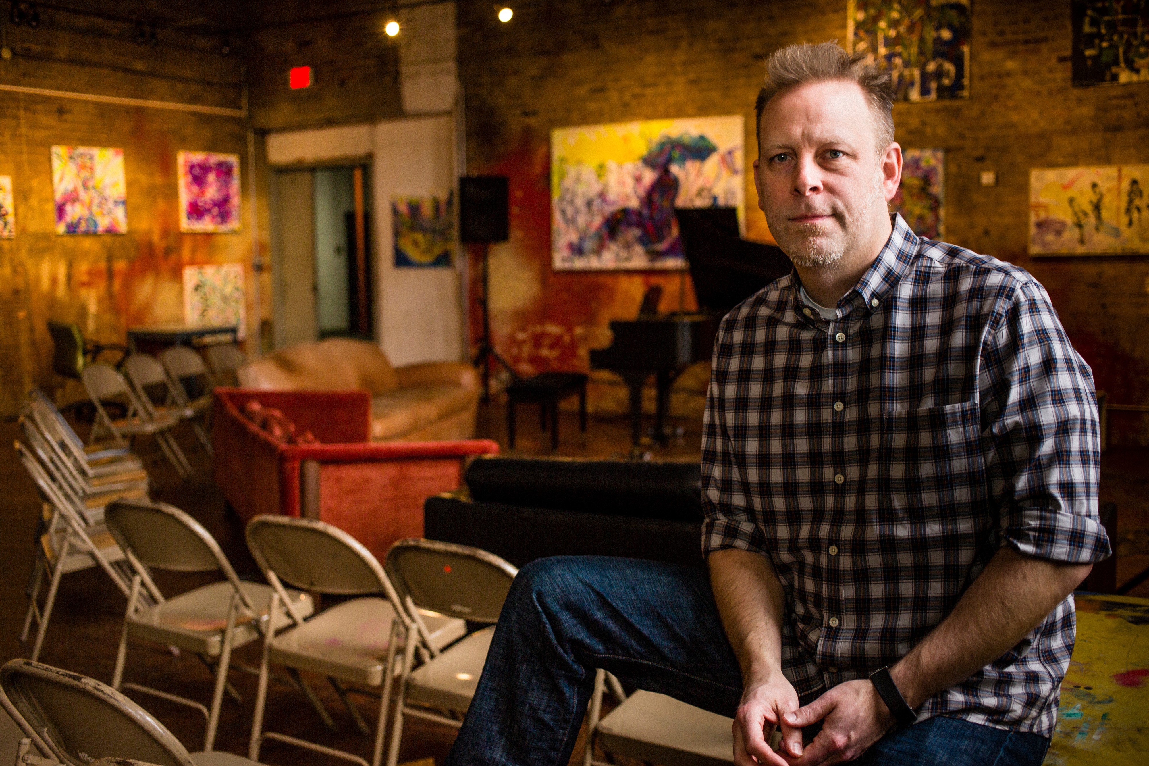 Chris Anderson, the operations manager of the Fulton Street Art Collective, Saturday, January 25, 2020.
