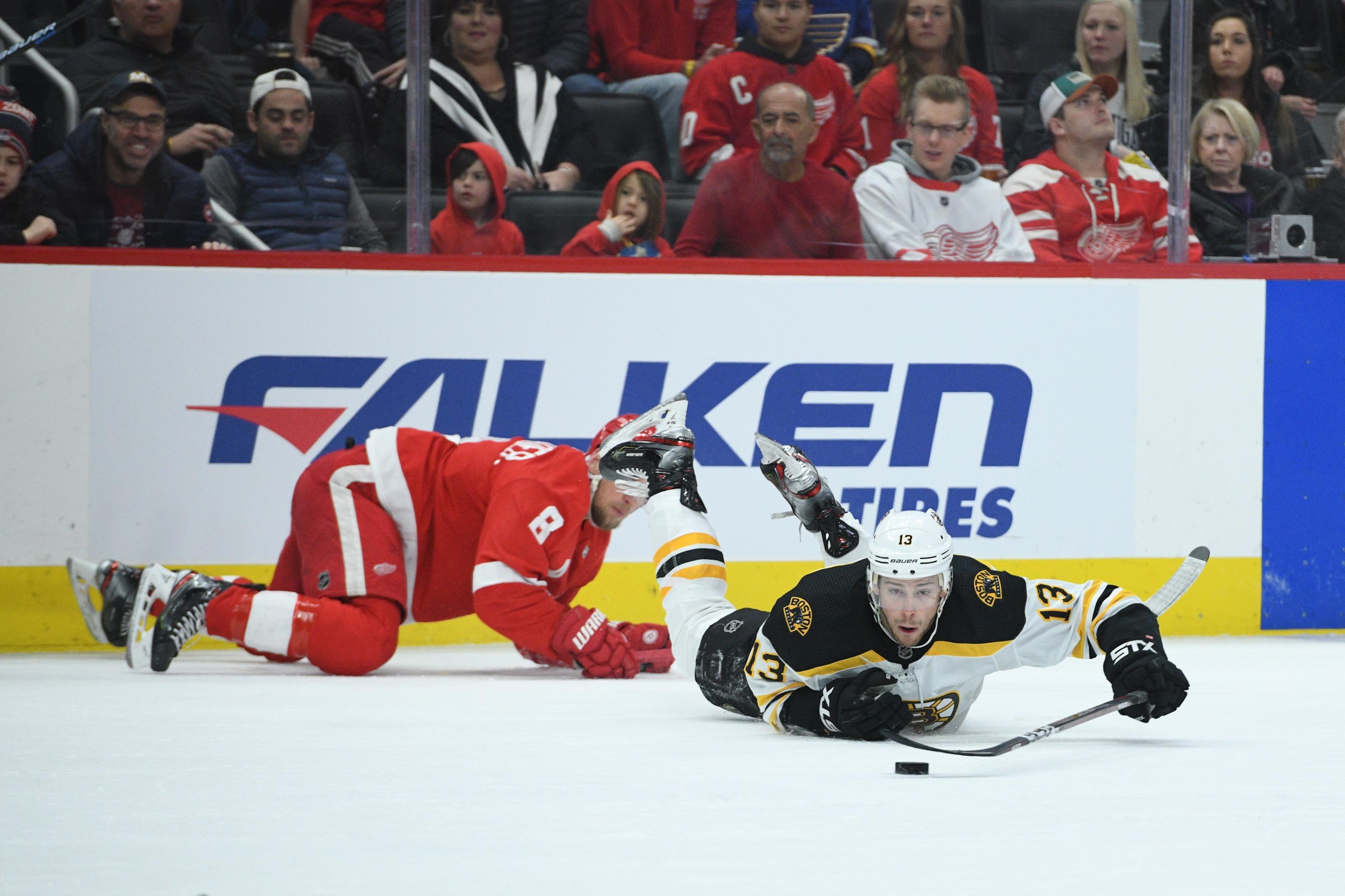 NHL: Boston Bruins at Detroit Red Wings
