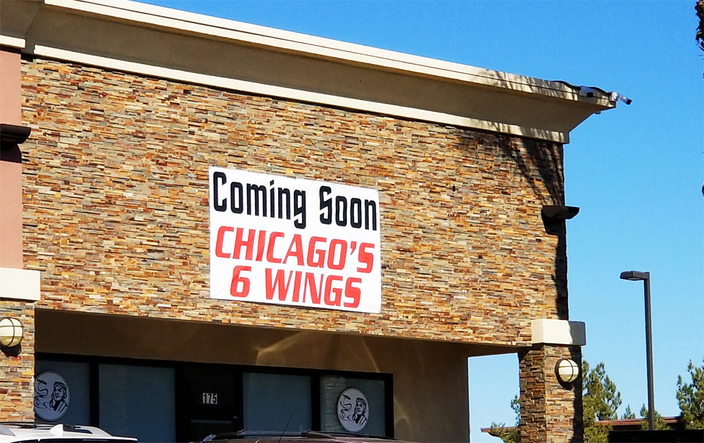 Future home of Chicago's 6 Wings at the Windmill Retail Plaza, originally planned to be a Harold's Chicken Shack.