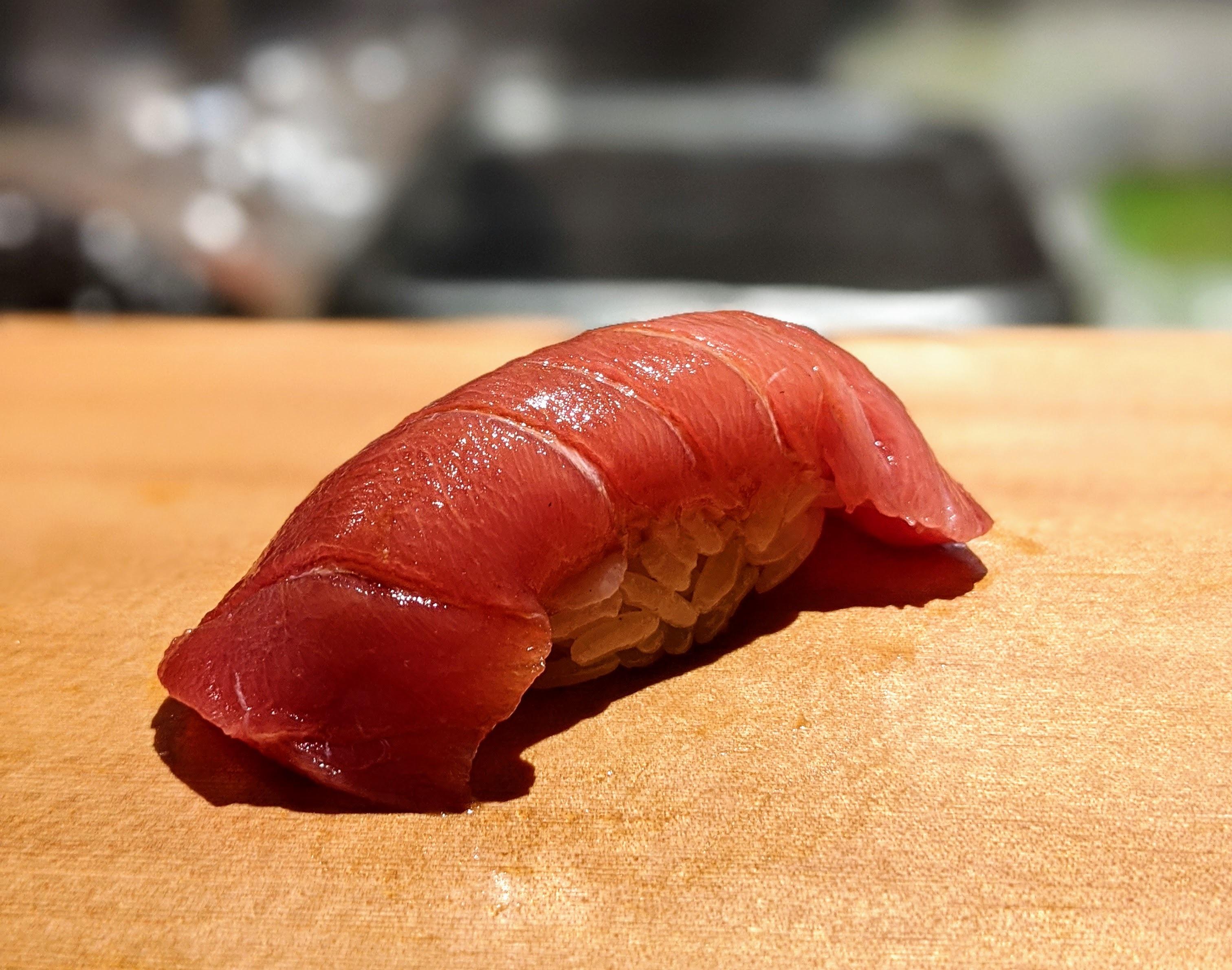 Toro nigiri at Sushi Chitose in Redondo Beach