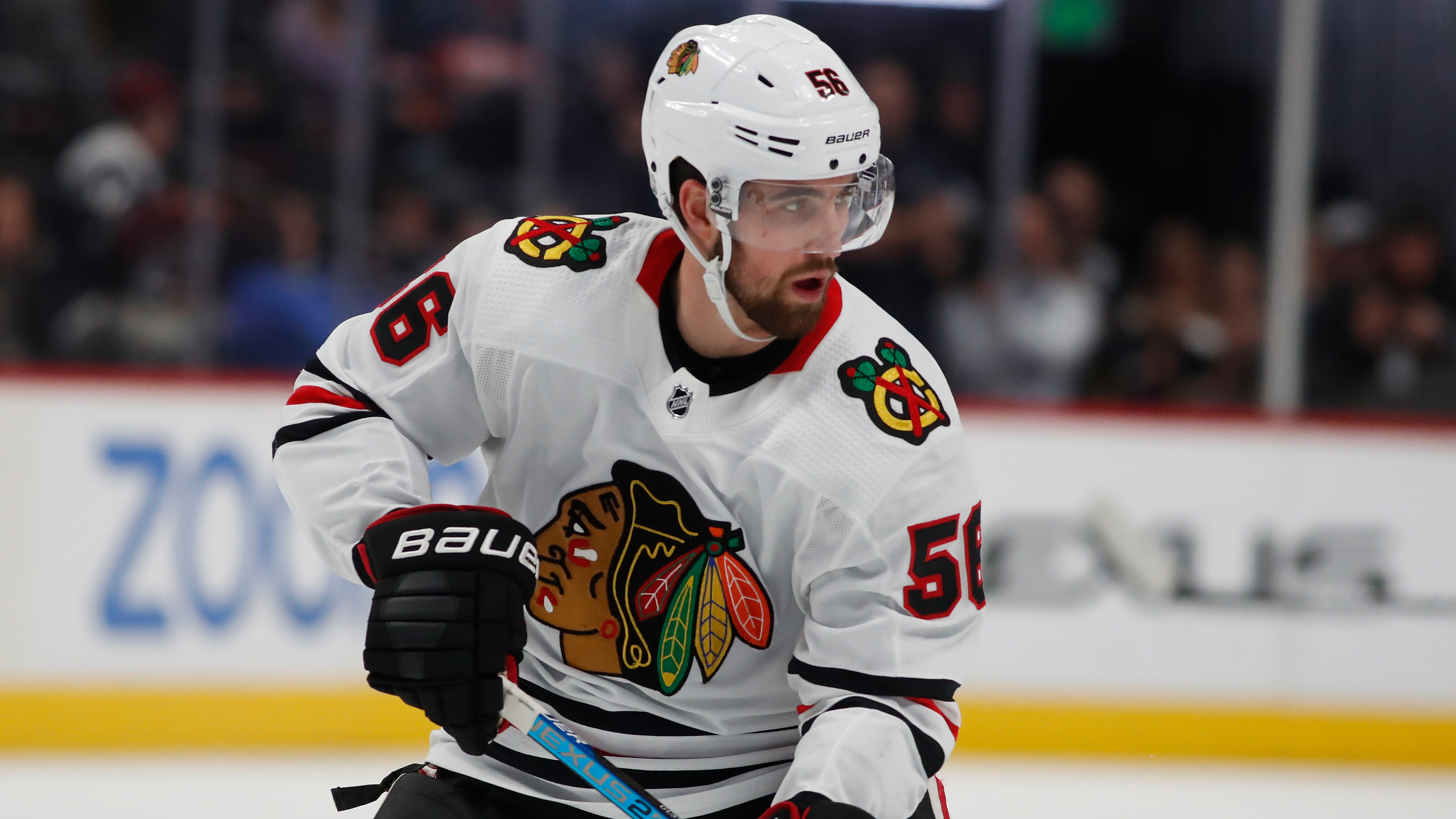 Erik Gustafsson is a Blackhawks defenseman for now, but he may or may not be after Feb. 24.