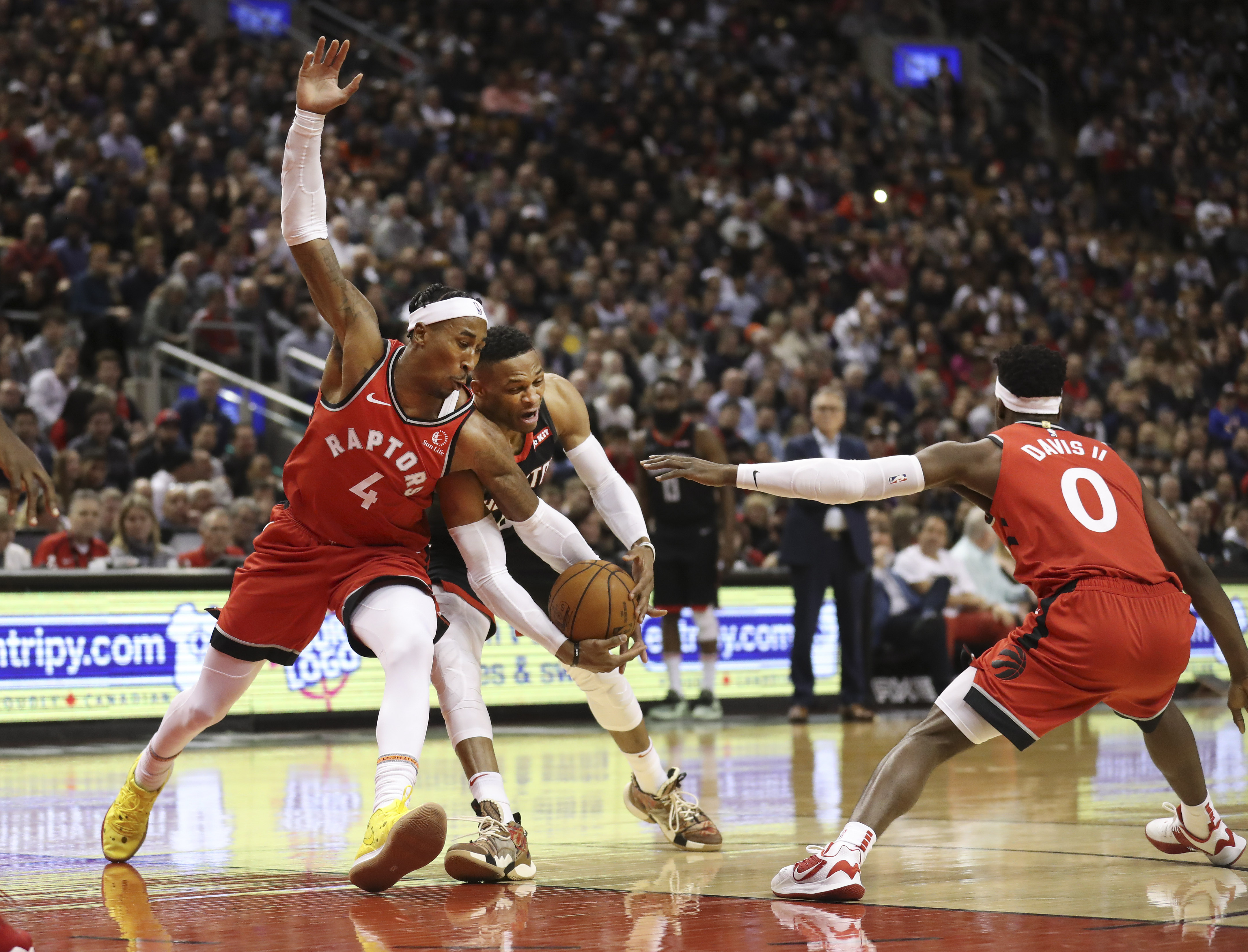 The Toronto Raptors took on the Houton Rockets at the Scotiabank arena.
