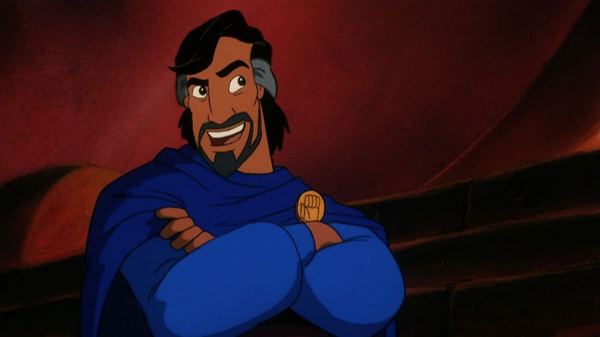 Cassim, a Middle Eastern man with salt-and-pepper hair, in Aladdin and the King of Thieves