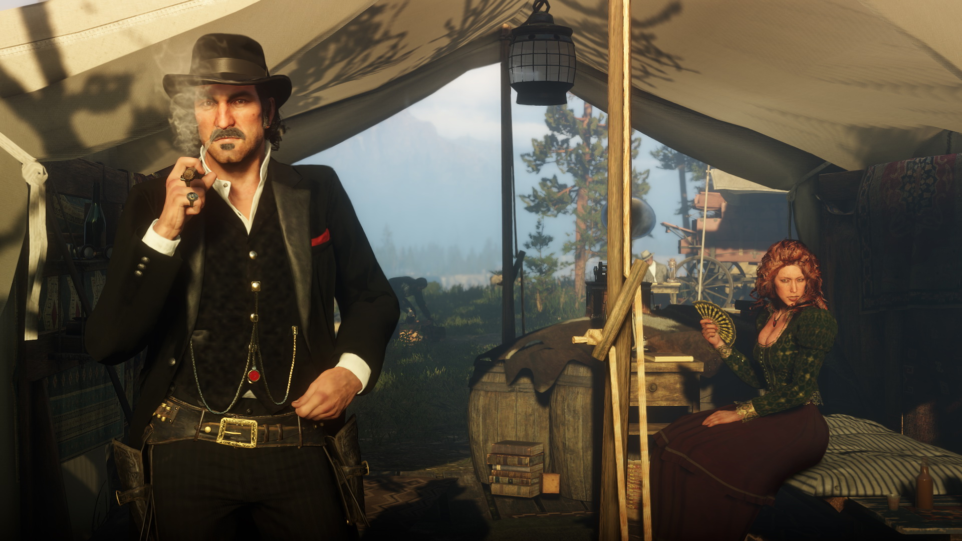 Red Dead Redemption 2 - Dutch van der Linde and Molly in a tent