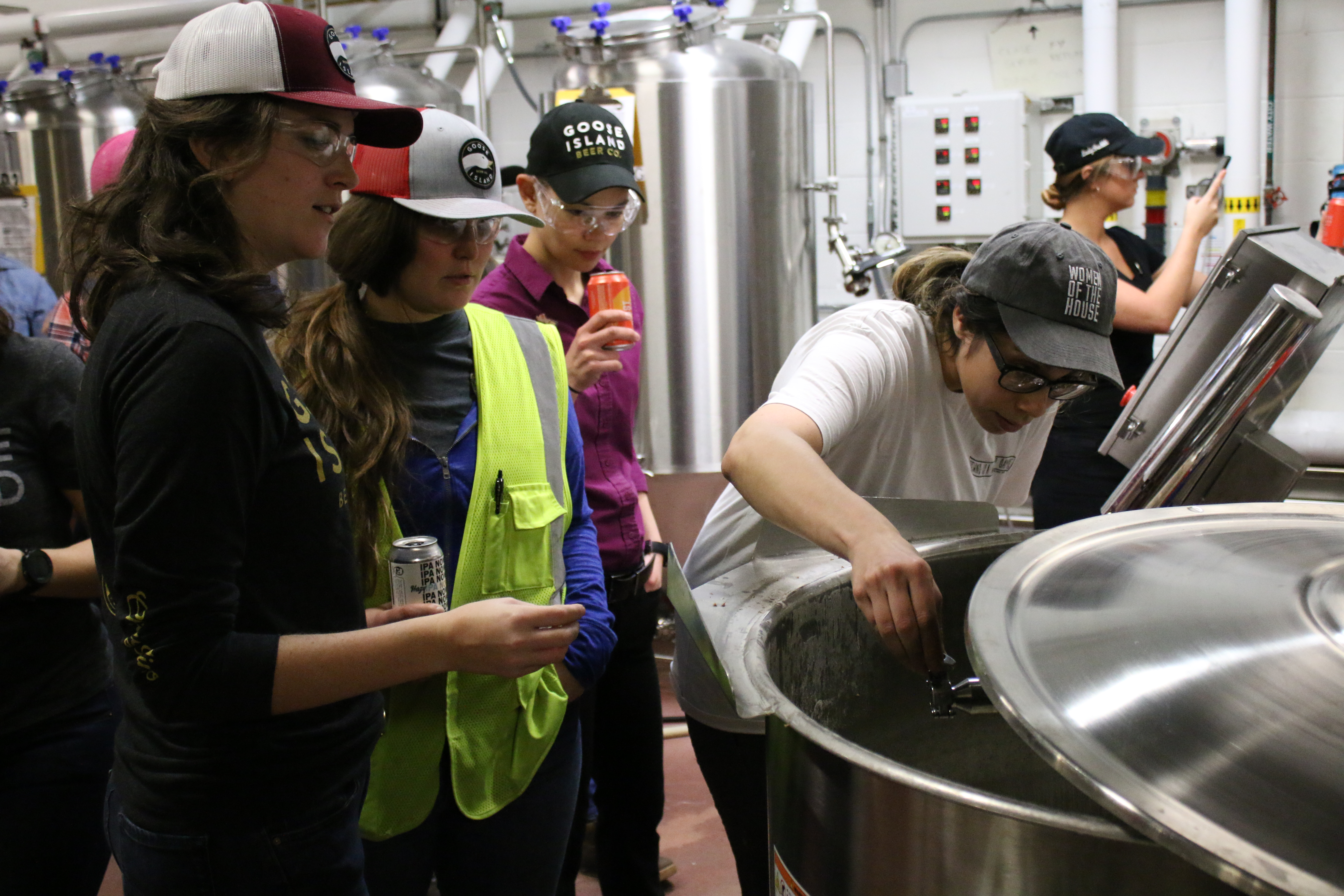 Female brewers at Goose Island, brewing a special beer called Women of the House, to be released on International Women's Day (March 8), Thursday February 13 2020.   Brian Rich/Sun-Times