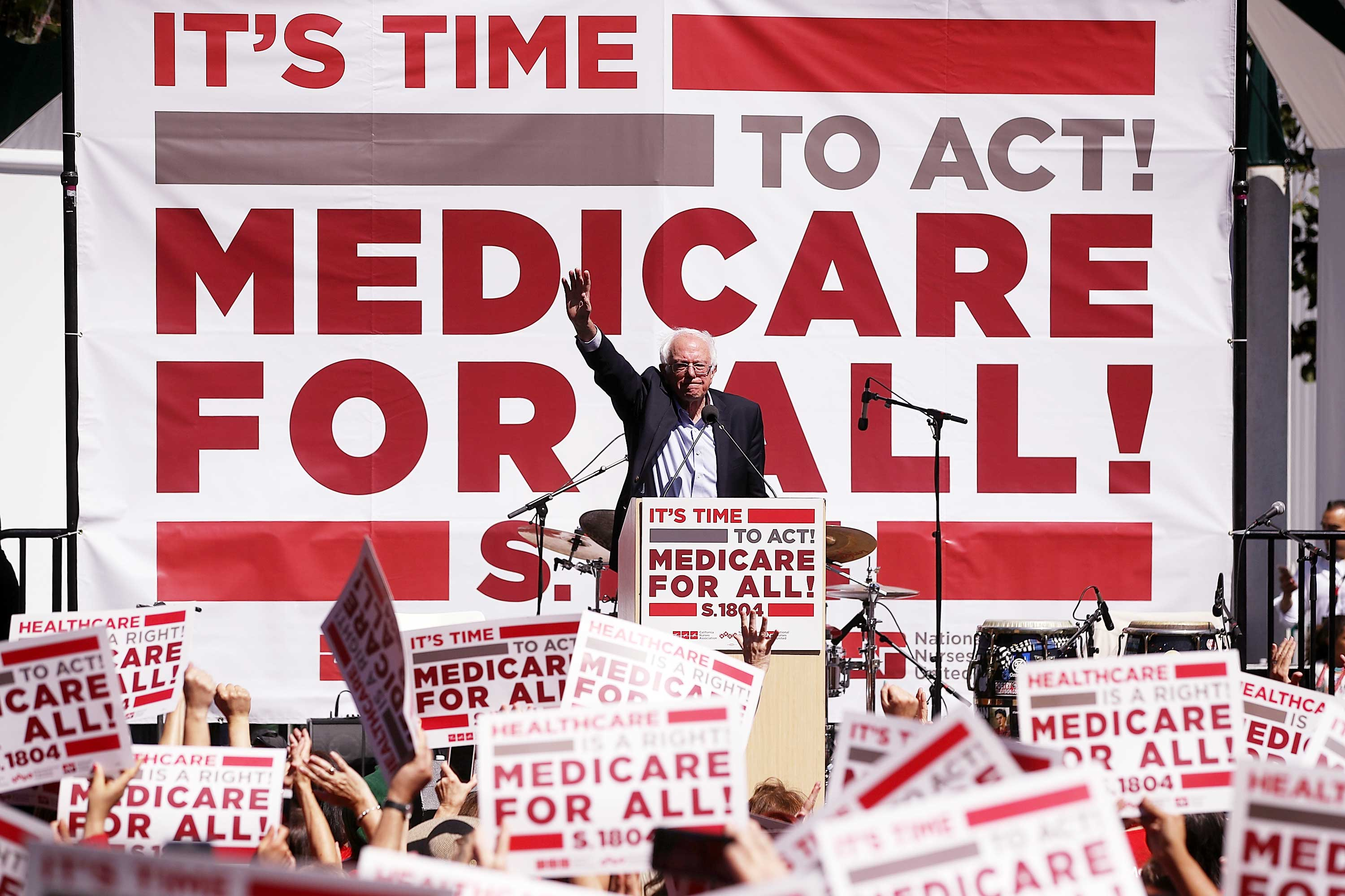 Why Medicare-for-all works for Bernie Sanders — and nobody else