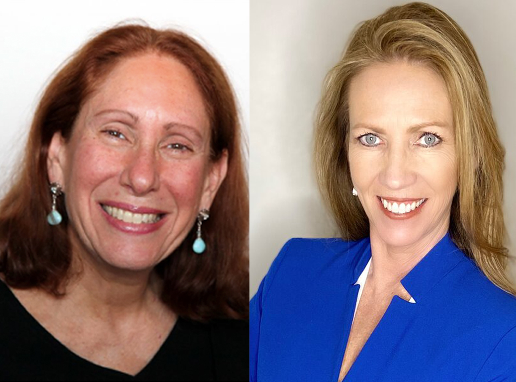 Attorneys Bonnie McGrath (left) and Maureen O'Leary are both on the March 17 Cook County ballot in judicial races, but voters would be hard-pressed to know they're running.