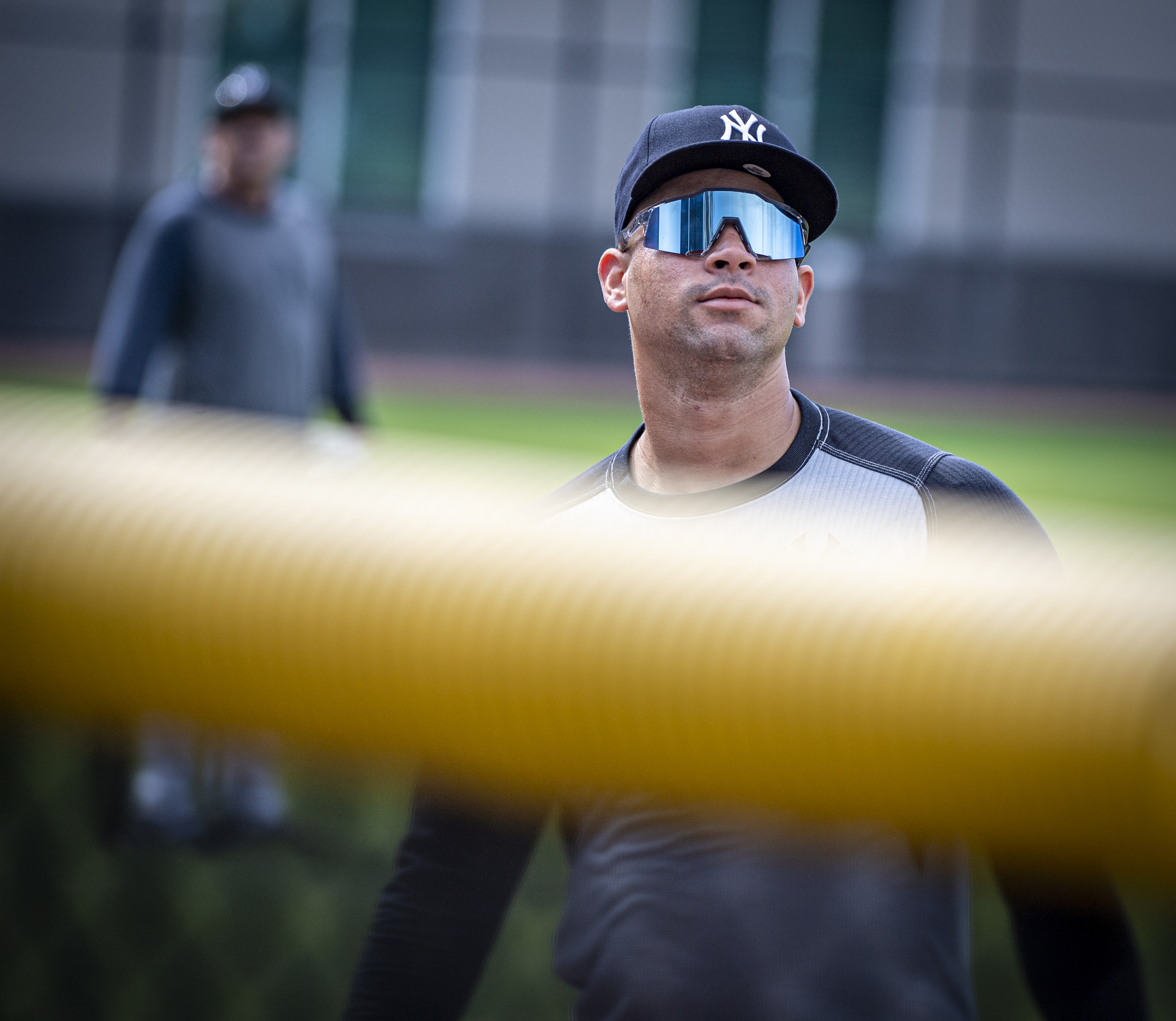 New York Yankees catcher Gary Sanchez at spring training in 2020