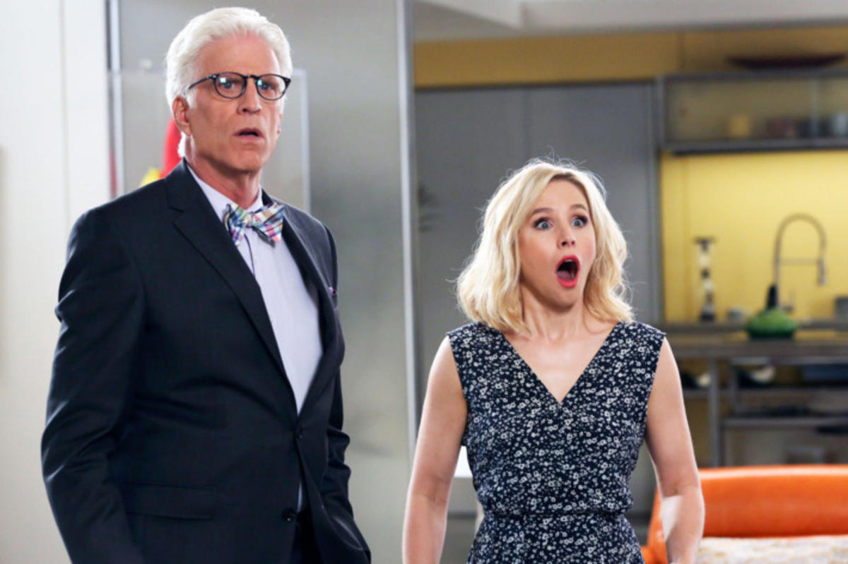 "Ted Danson and Kristen Bell star in the afterlife sitcom ""The Good Place."""