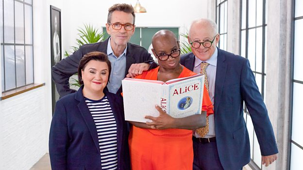 Great British Menu judges Andi Oliver, Matthew Fort, Oliver Peyton, and presenter Susan Calman
